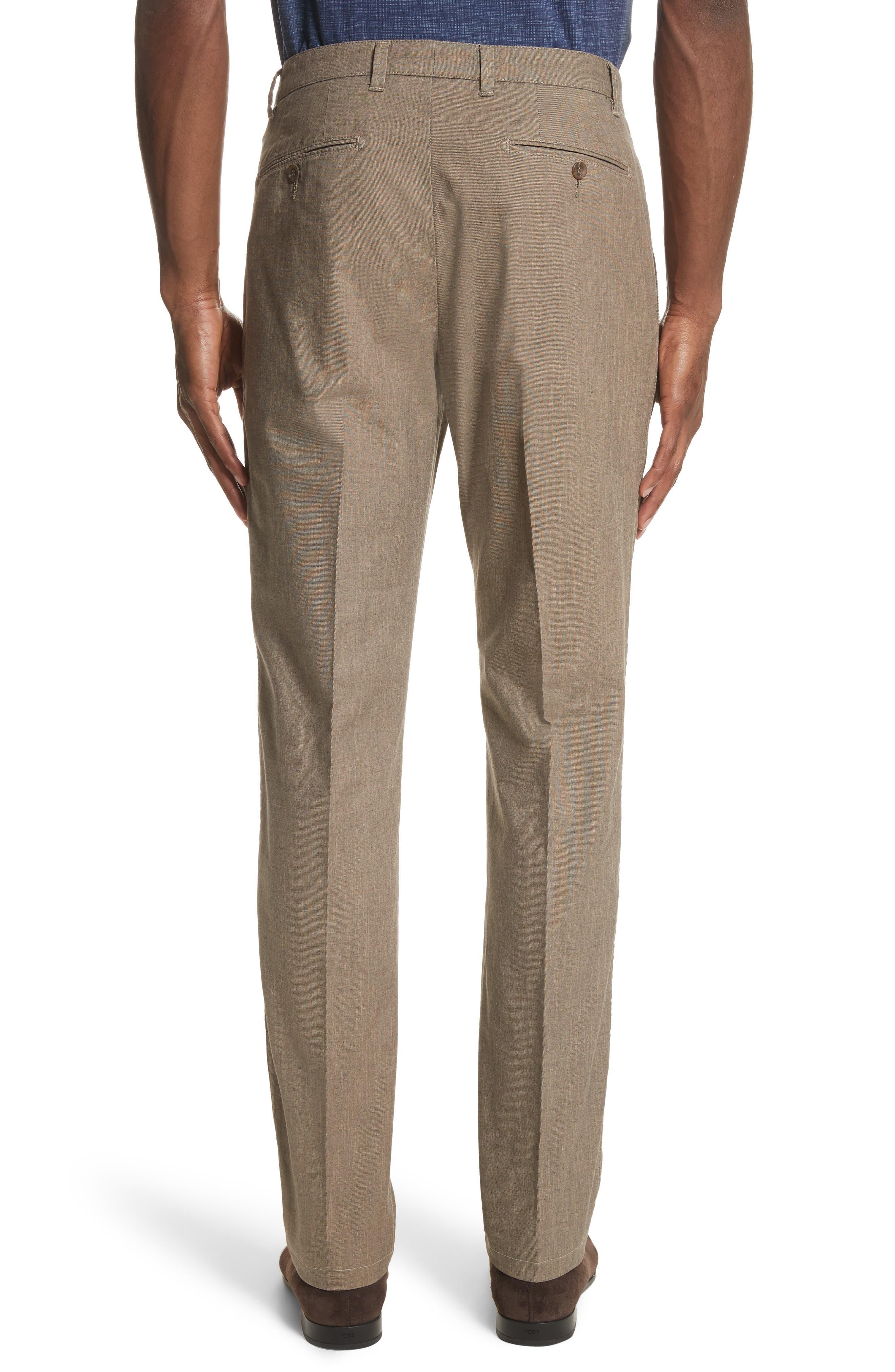 French Pocket Stretch Straight Leg Pants,                             Alternate thumbnail 2, color,                             Dark Beige
