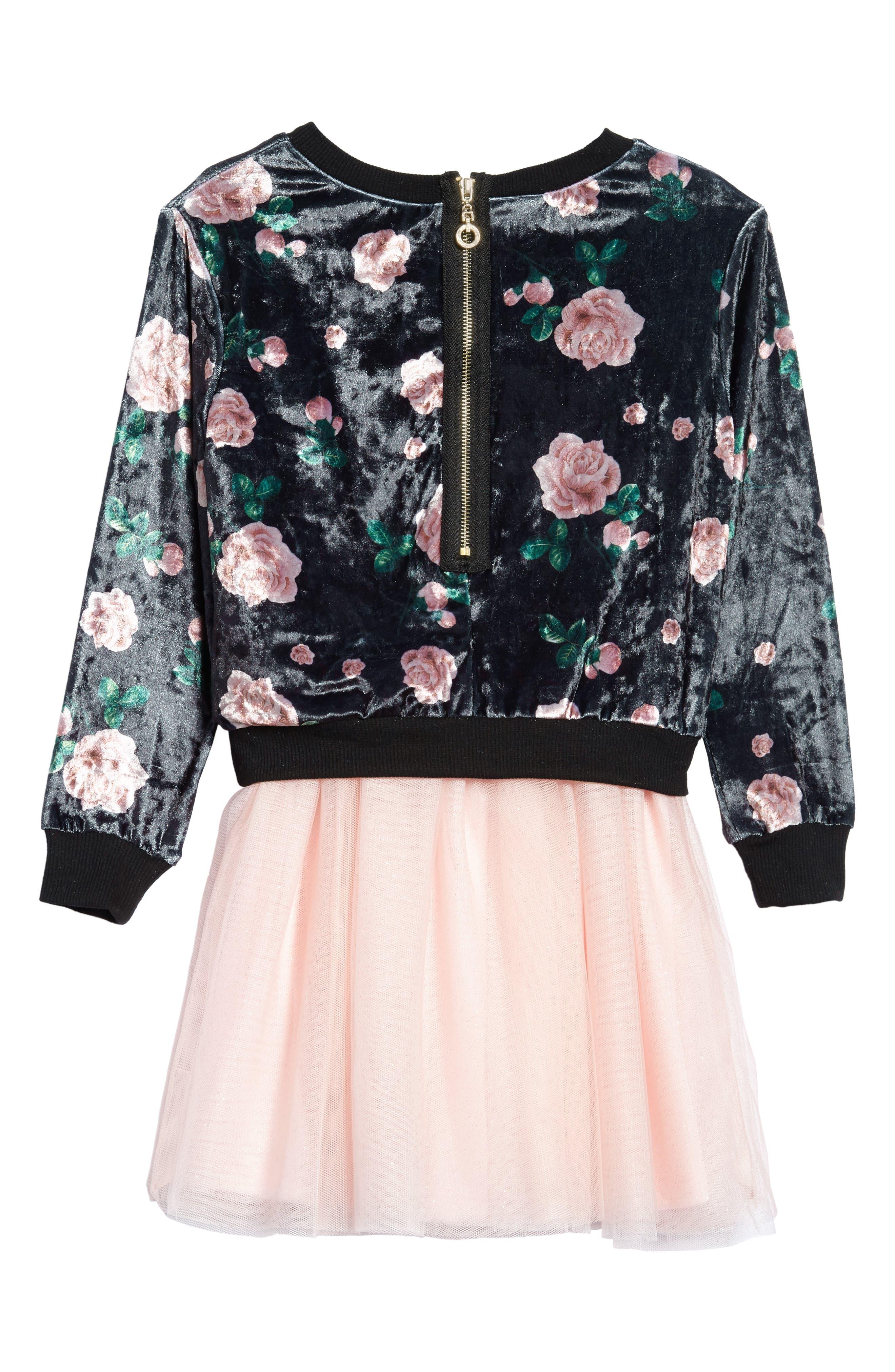 Tutu Dress & Sweater Set,                             Alternate thumbnail 2, color,                             Black Multi