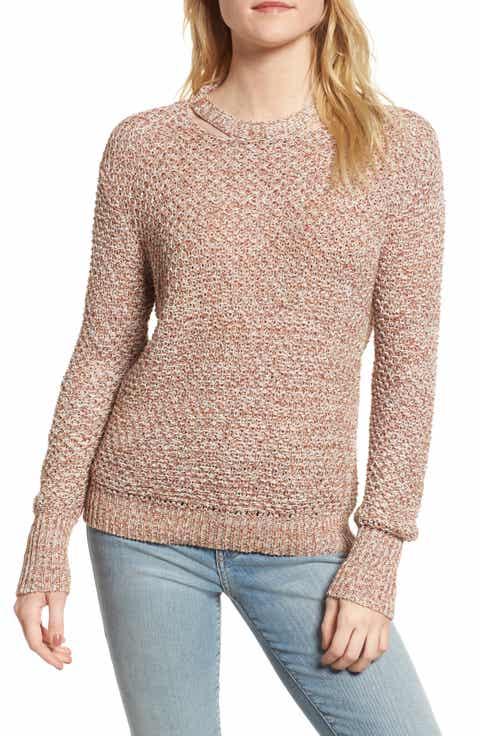 Ella Moss Mélange Open Back Sweater