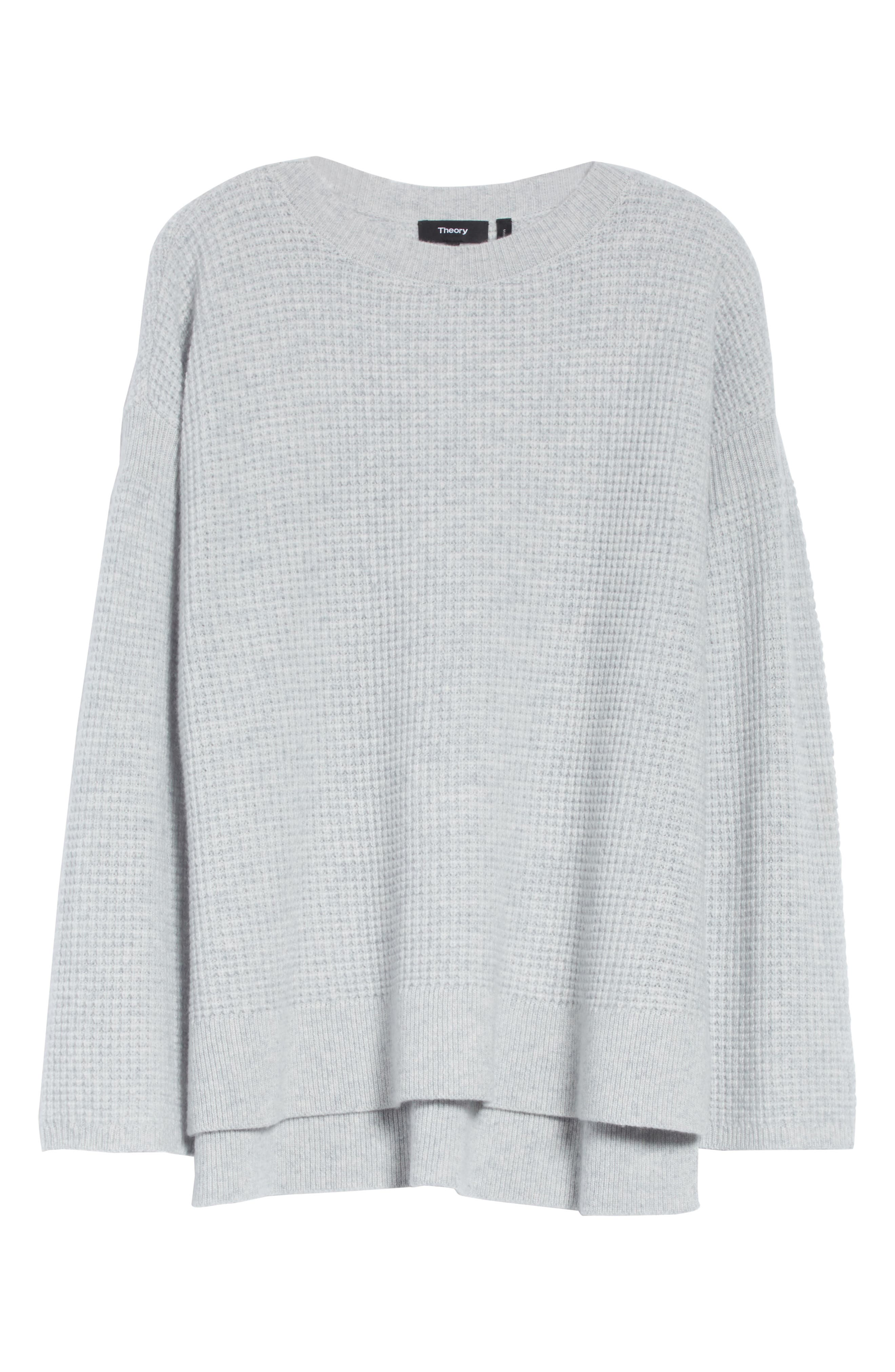 Cinch Sleeve Cashmere Sweater,                             Alternate thumbnail 6, color,                             Whale Grey