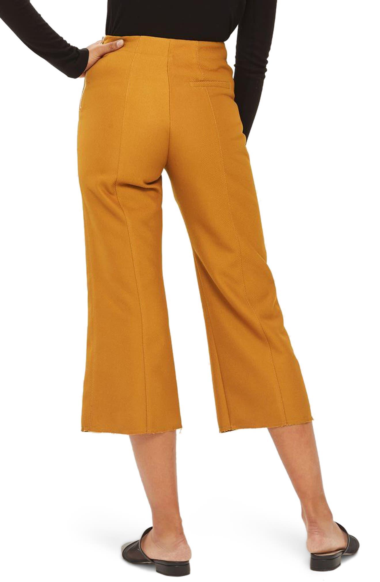 Alternate Image 3  - Topshop Bonded Kick Flare Trousers