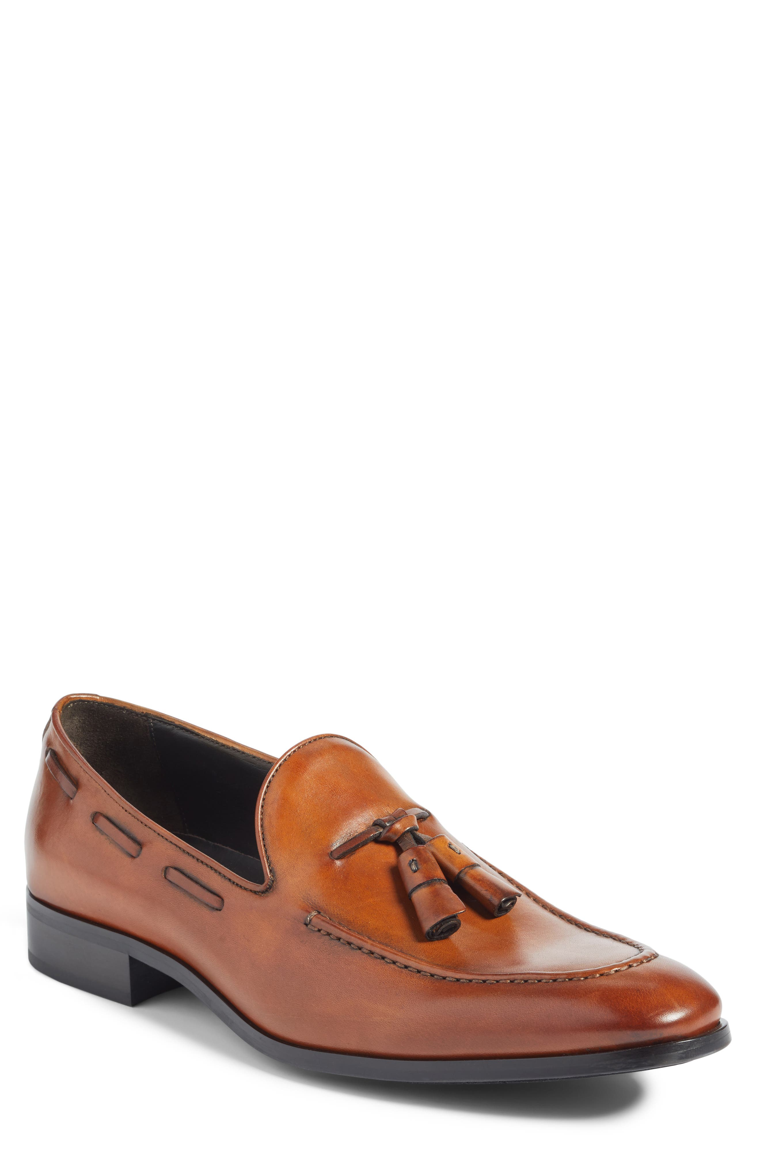 Barclay Tassel Loafer,                         Main,                         color, Cognac Leather