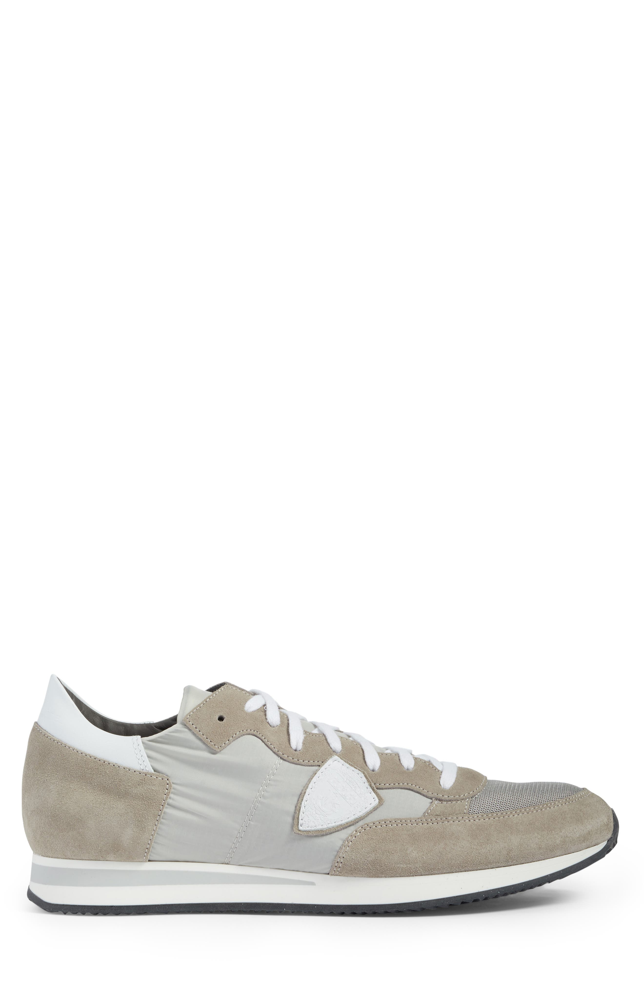 Tropez Low Top Sneaker,                             Alternate thumbnail 3, color,                             Grey/ White