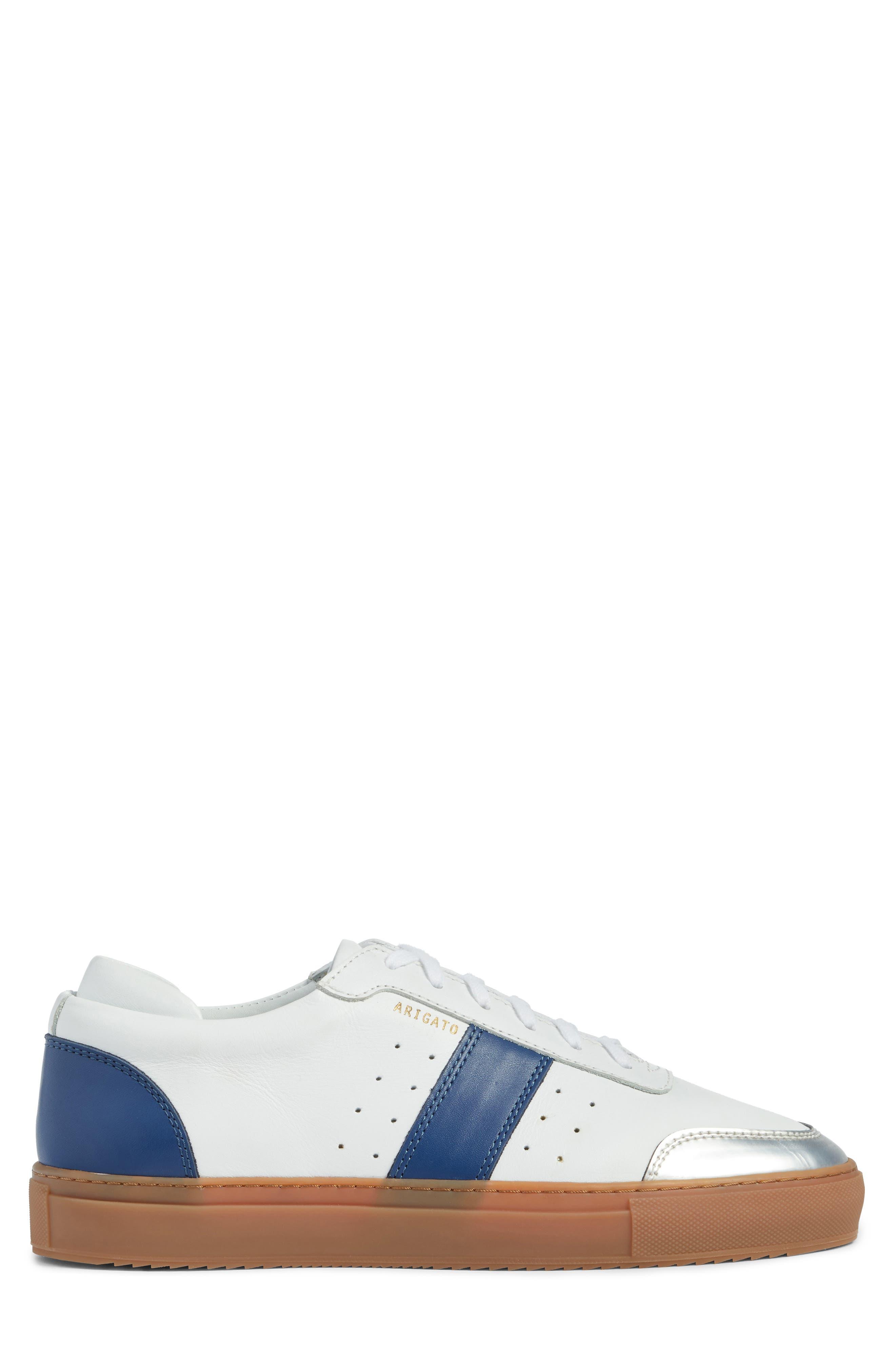 Dunk Sneaker,                             Alternate thumbnail 3, color,                             White/ Navy