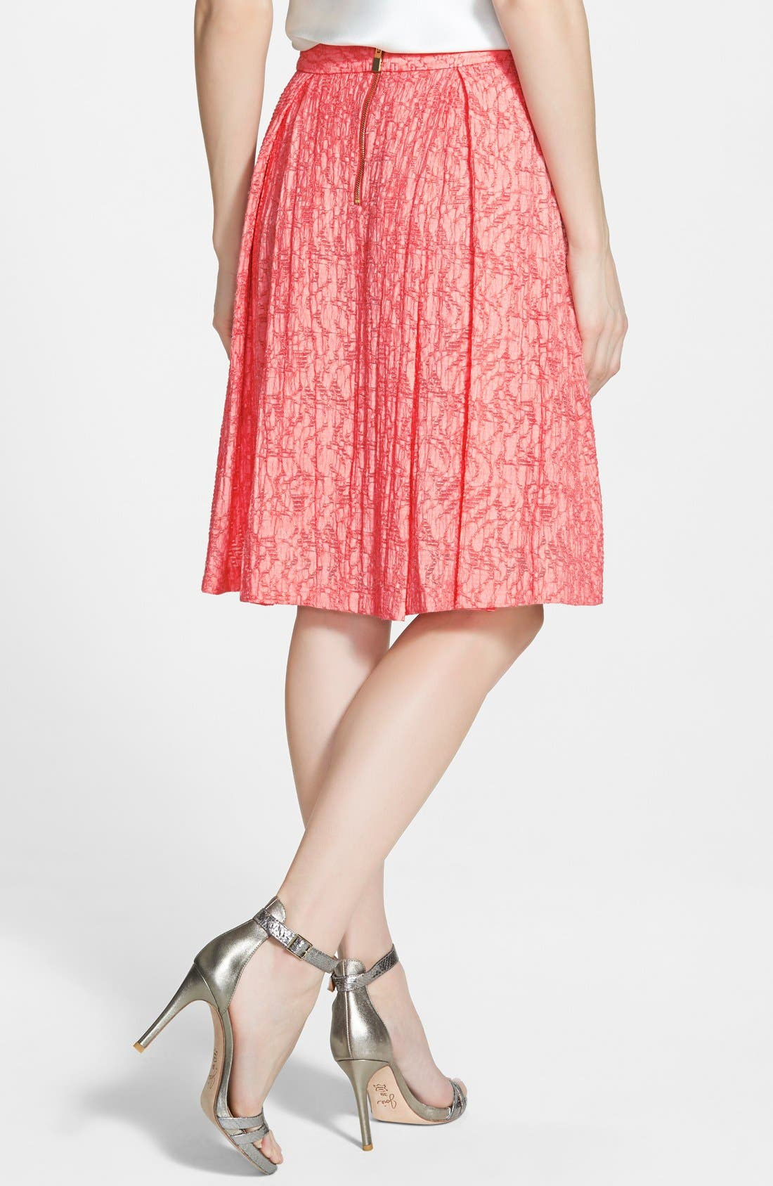 Alternate Image 2  - Vince Camuto Pleated A-Line Skirt (Regular & Petite)