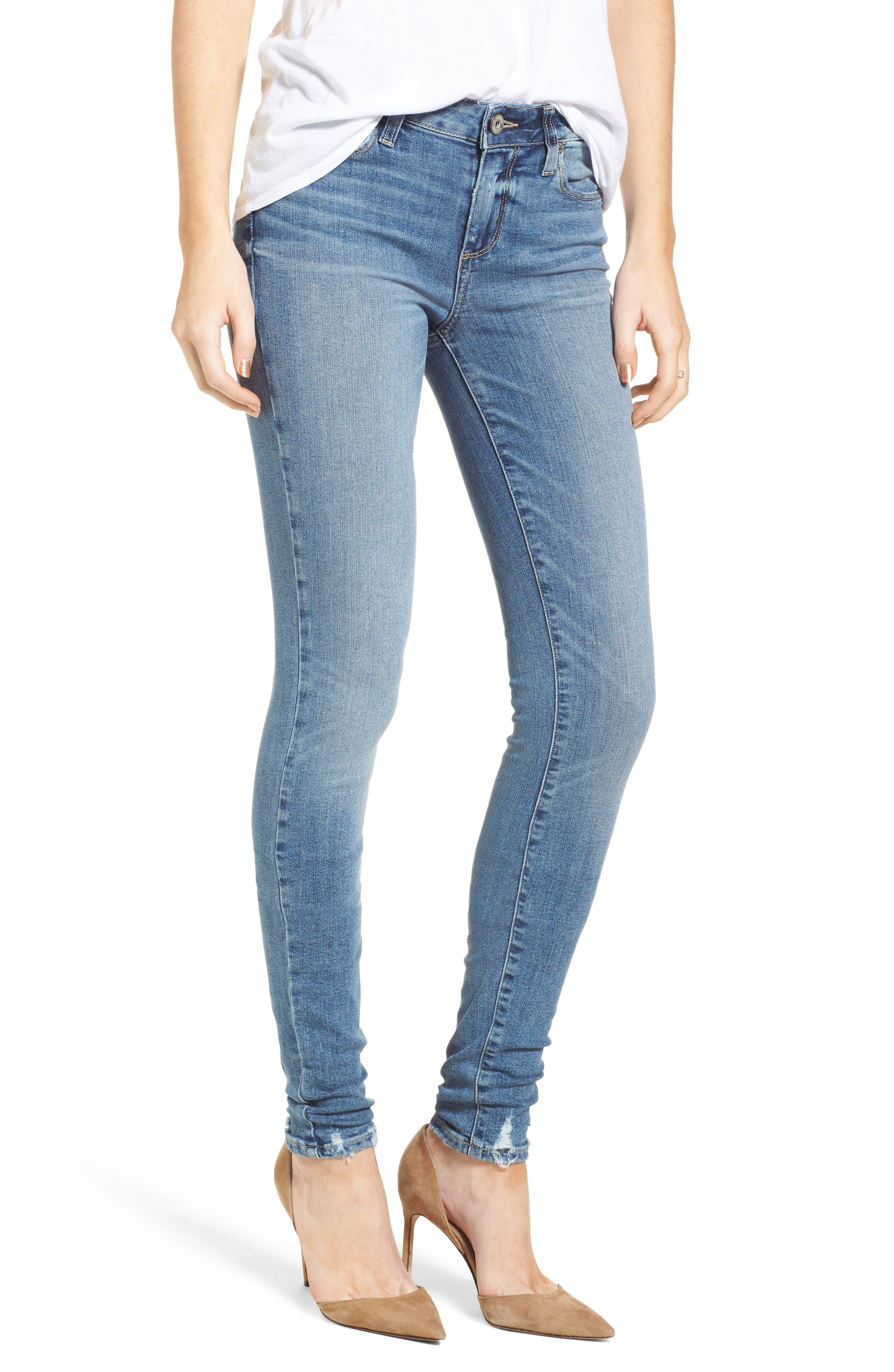 Transcend Vintage - Leggy Ultra Skinny Jeans,                             Main thumbnail 1, color,                             Rissy