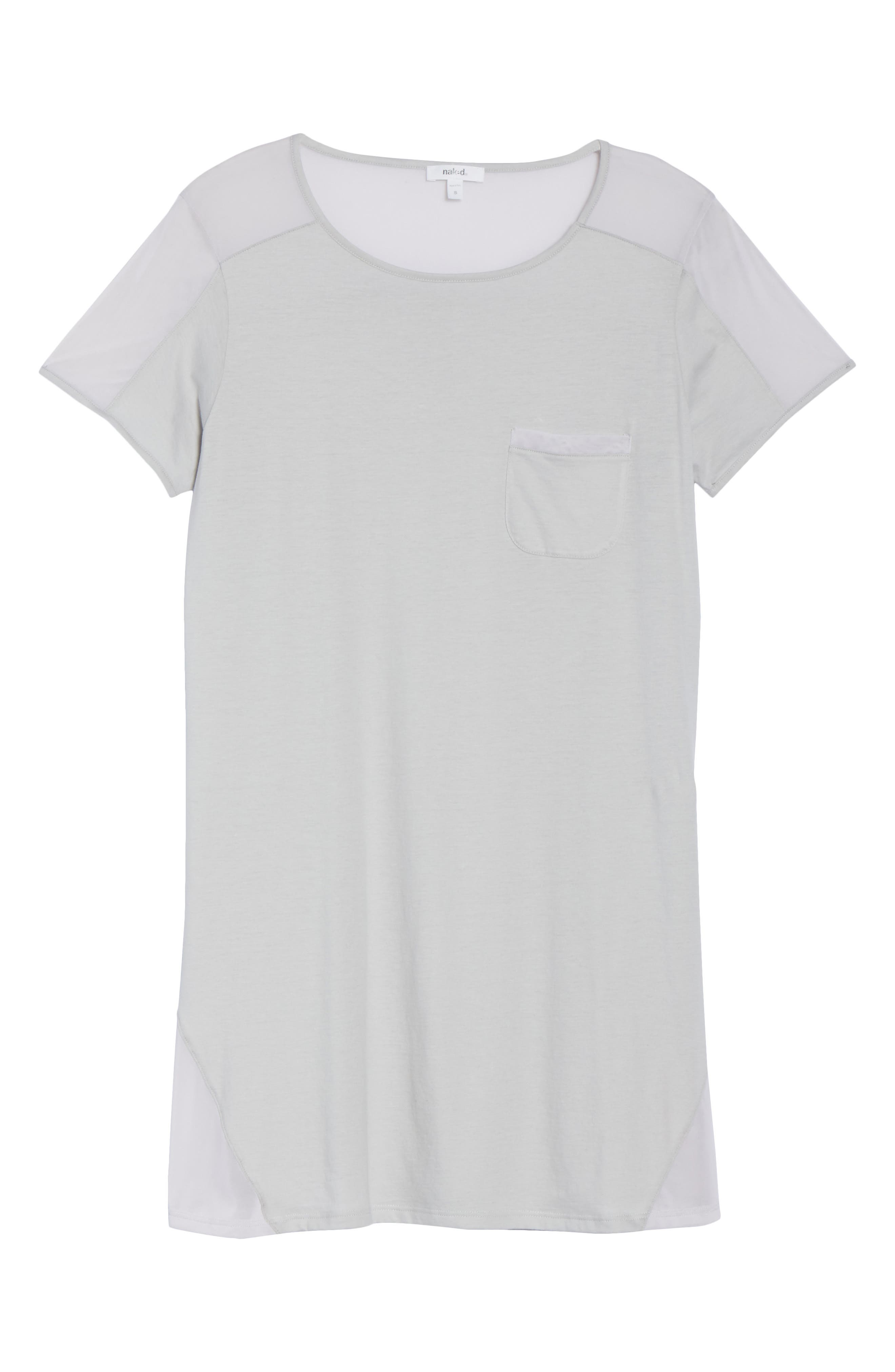 Cotton Sleep Shirt,                             Alternate thumbnail 6, color,                             Soft Gray