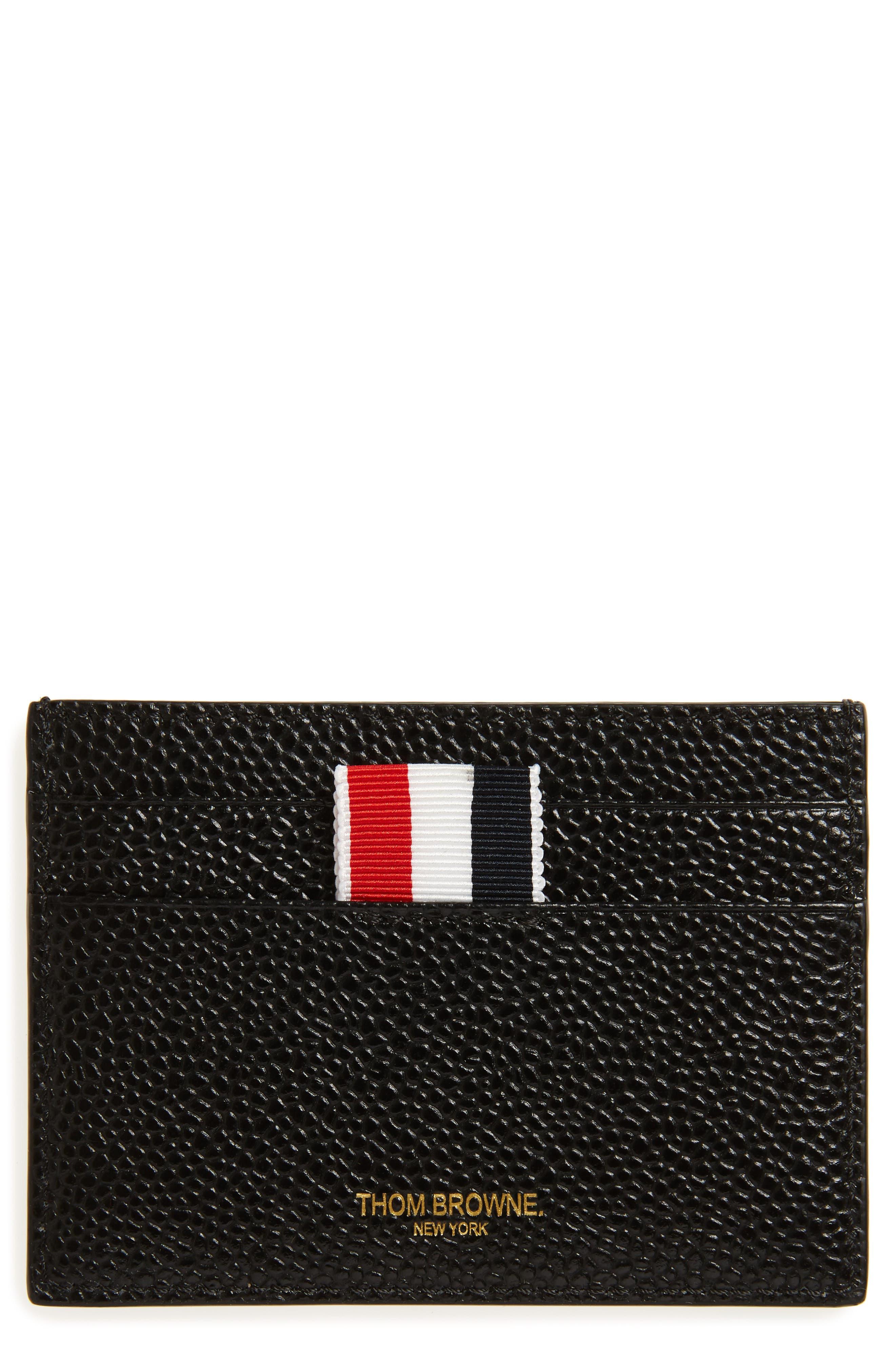 Patent Leather Card Case,                         Main,                         color, Black