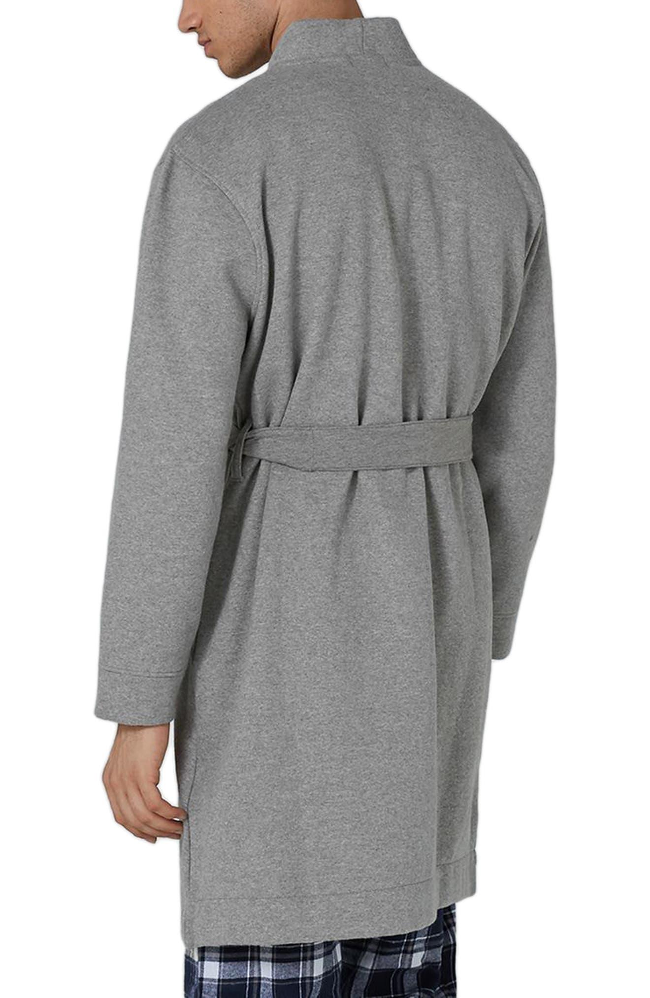 Jersey Robe,                             Alternate thumbnail 2, color,                             Grey