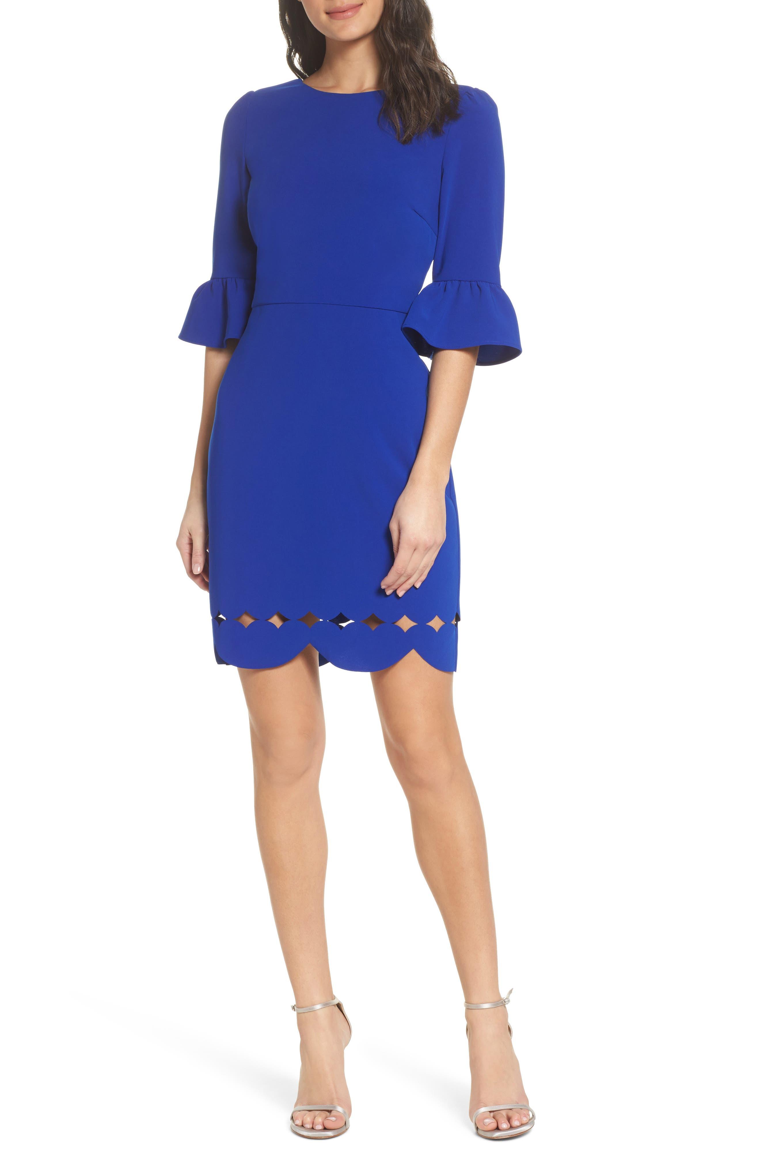 Blair Sheath Dress,                         Main,                         color, Cobalt