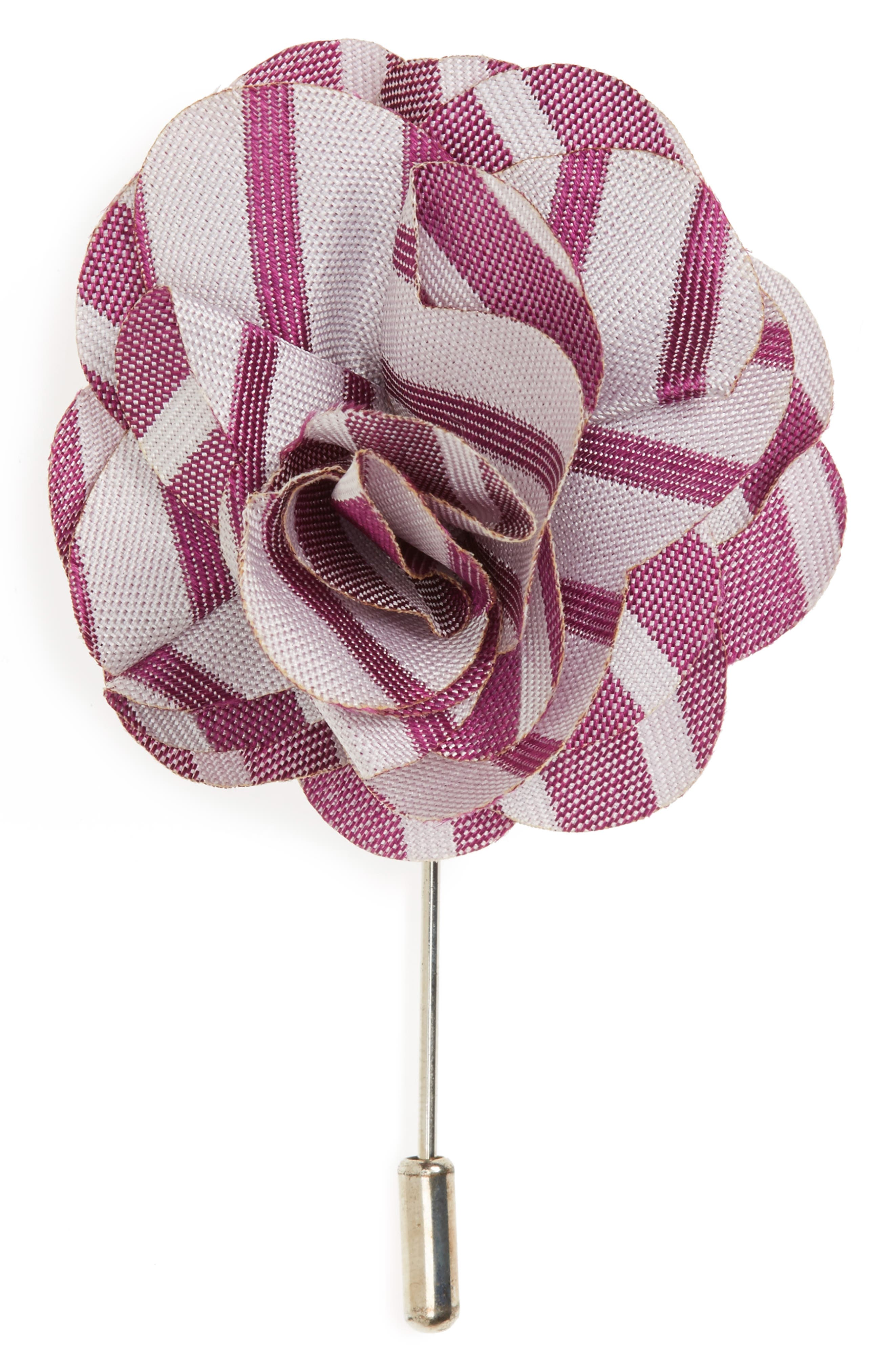 The Tie Bar Unity Stripe Silk Lapel Flower