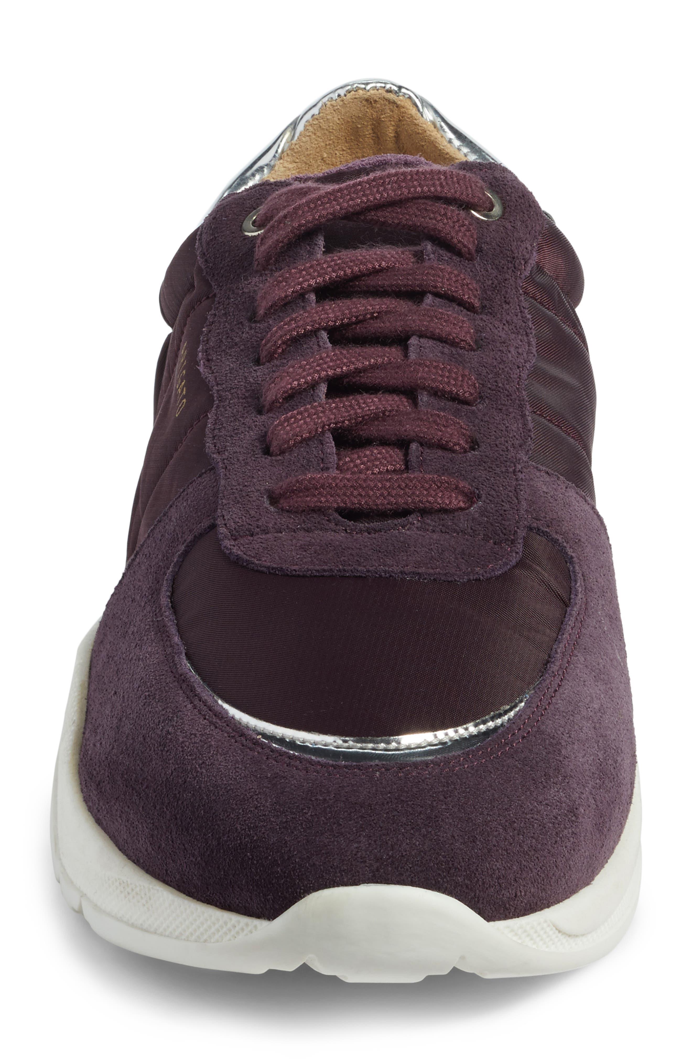 Geo Sneaker,                             Alternate thumbnail 4, color,                             Purple