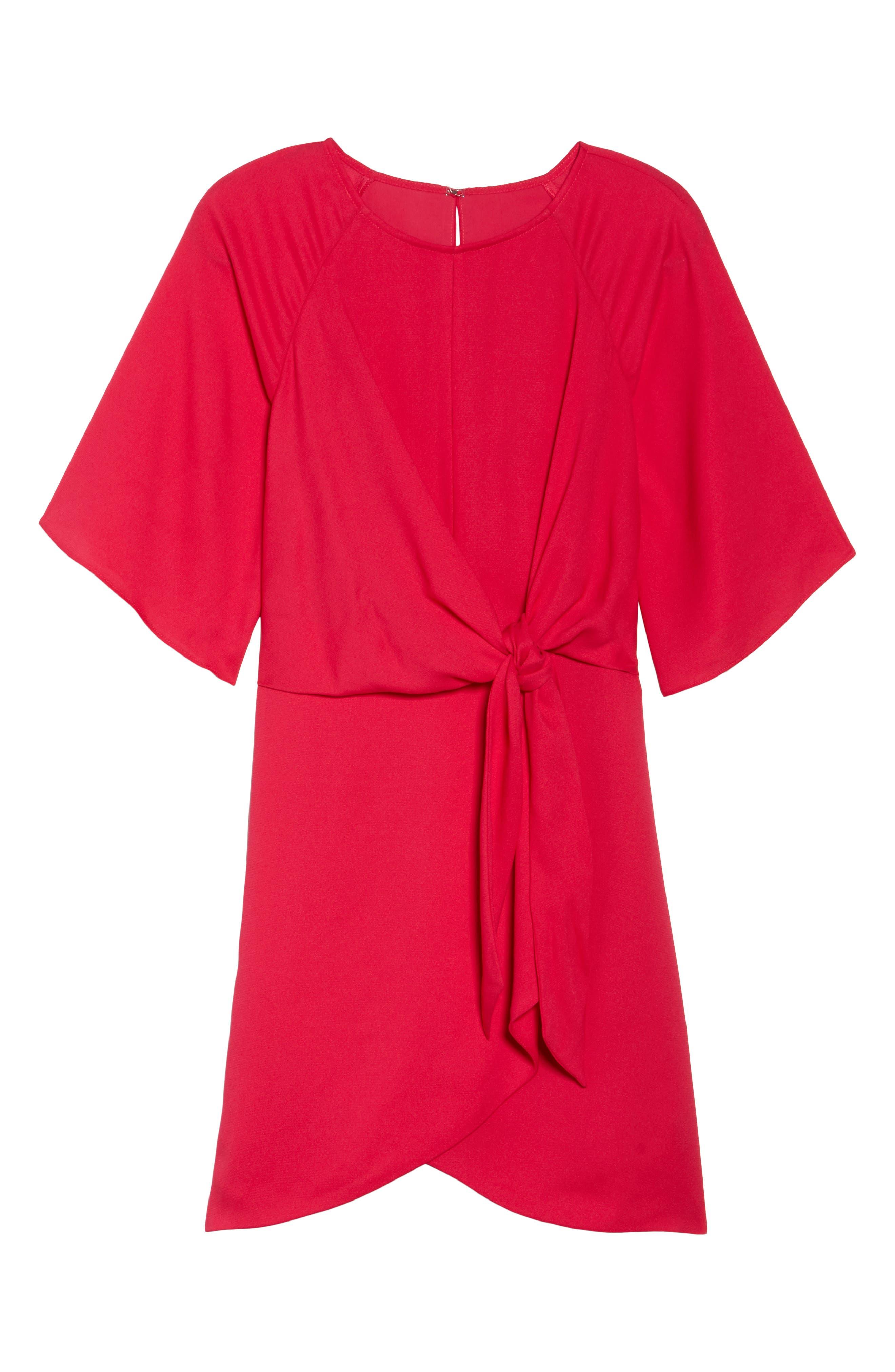 Abbey Faux Wrap Dress,                             Alternate thumbnail 6, color,                             Fuchsia