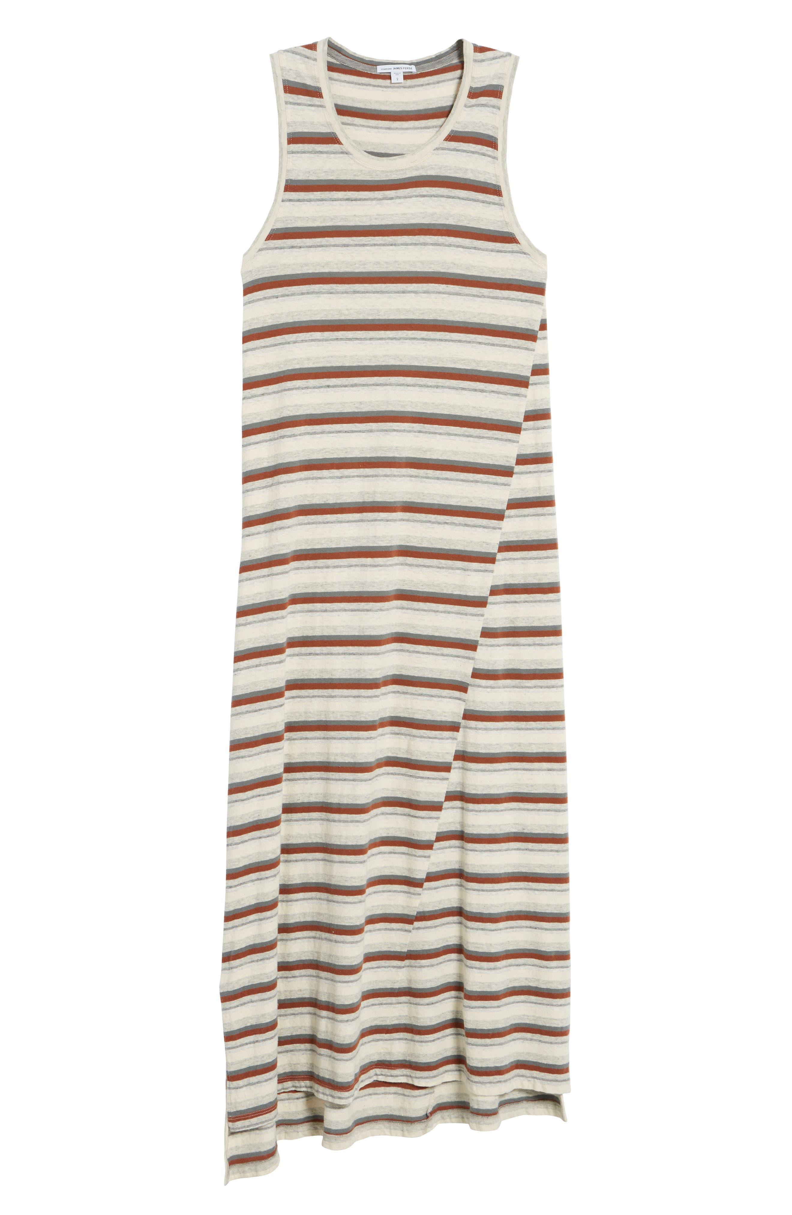 Sleeveless Stripe Dress,                             Alternate thumbnail 6, color,                             Cartridge Stripe