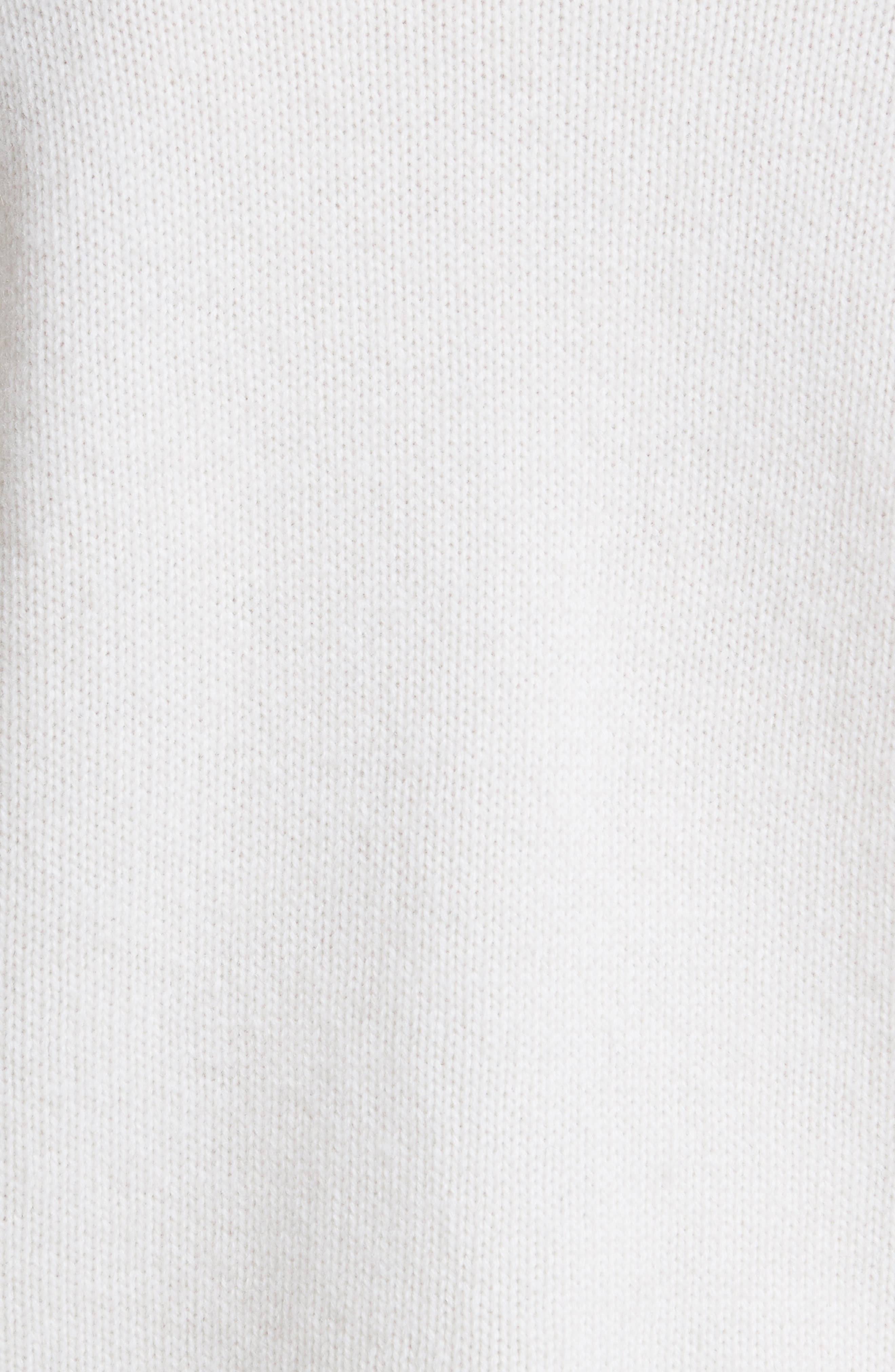 Imitation Pearl Embellished Wool & Cashmere Sweater,                             Alternate thumbnail 6, color,                             Ivory