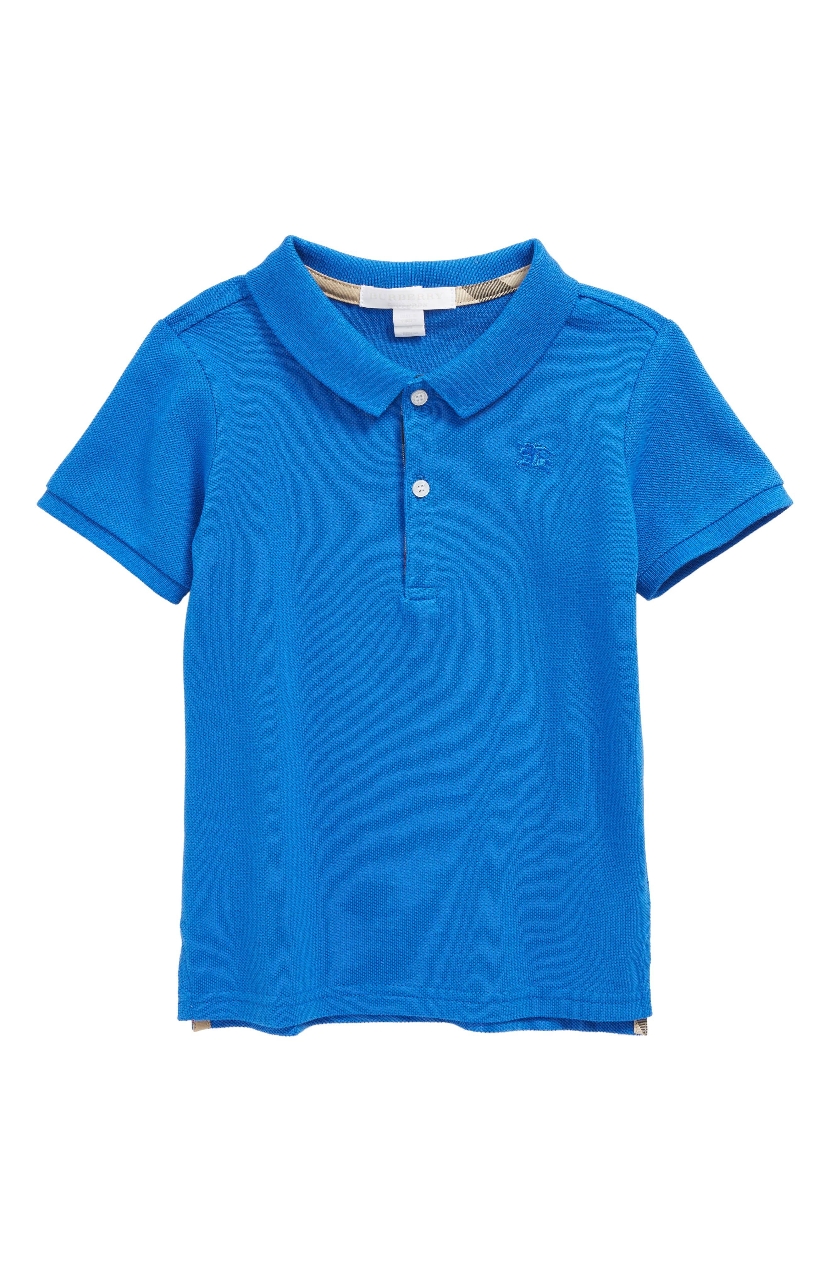 Palmer Piqué Polo,                         Main,                         color, Cobalt Blue