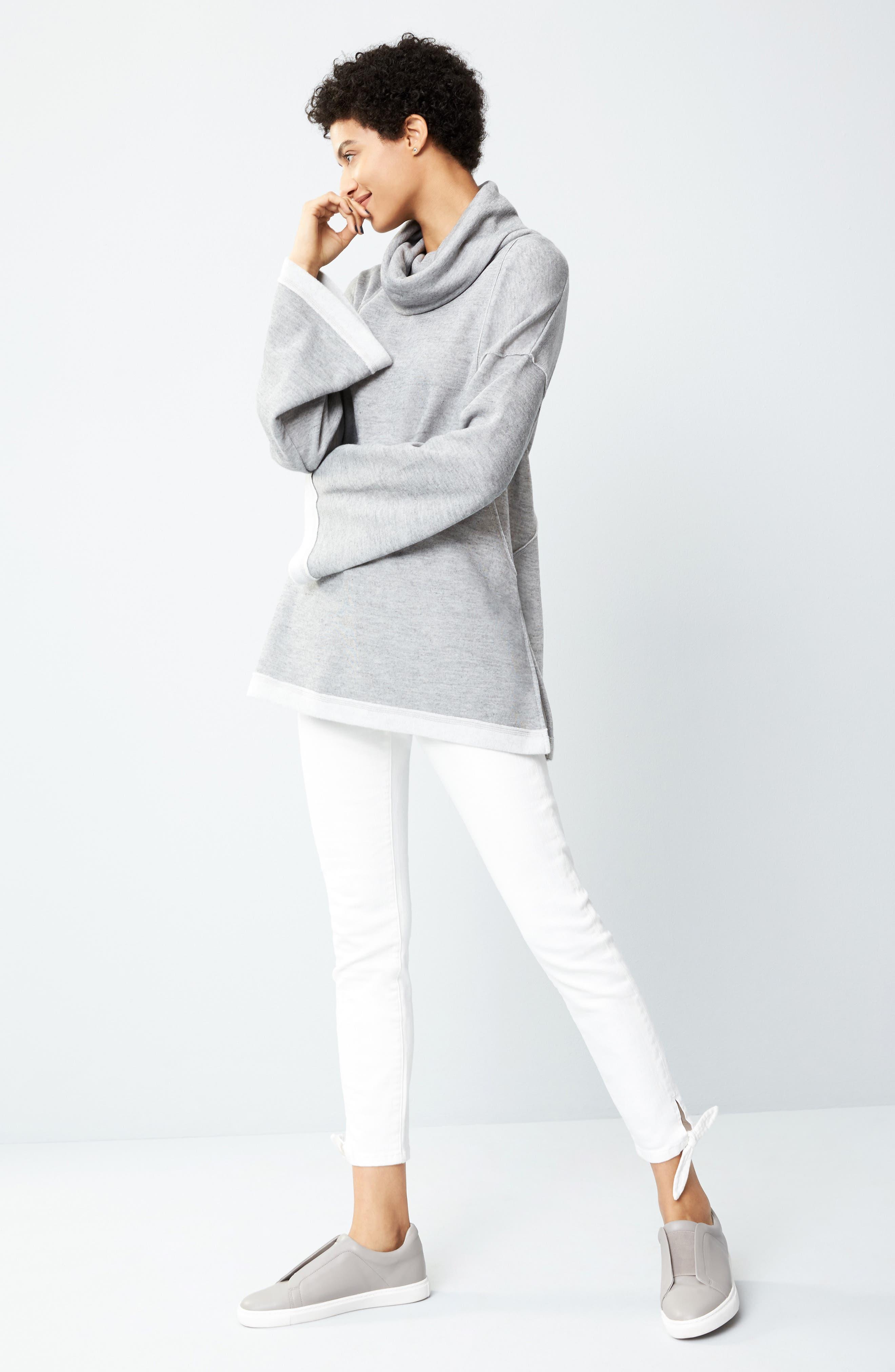 Alternate Image 2  - Caslon® Tie Ankle Skinny Jeans (Regular & Petite)