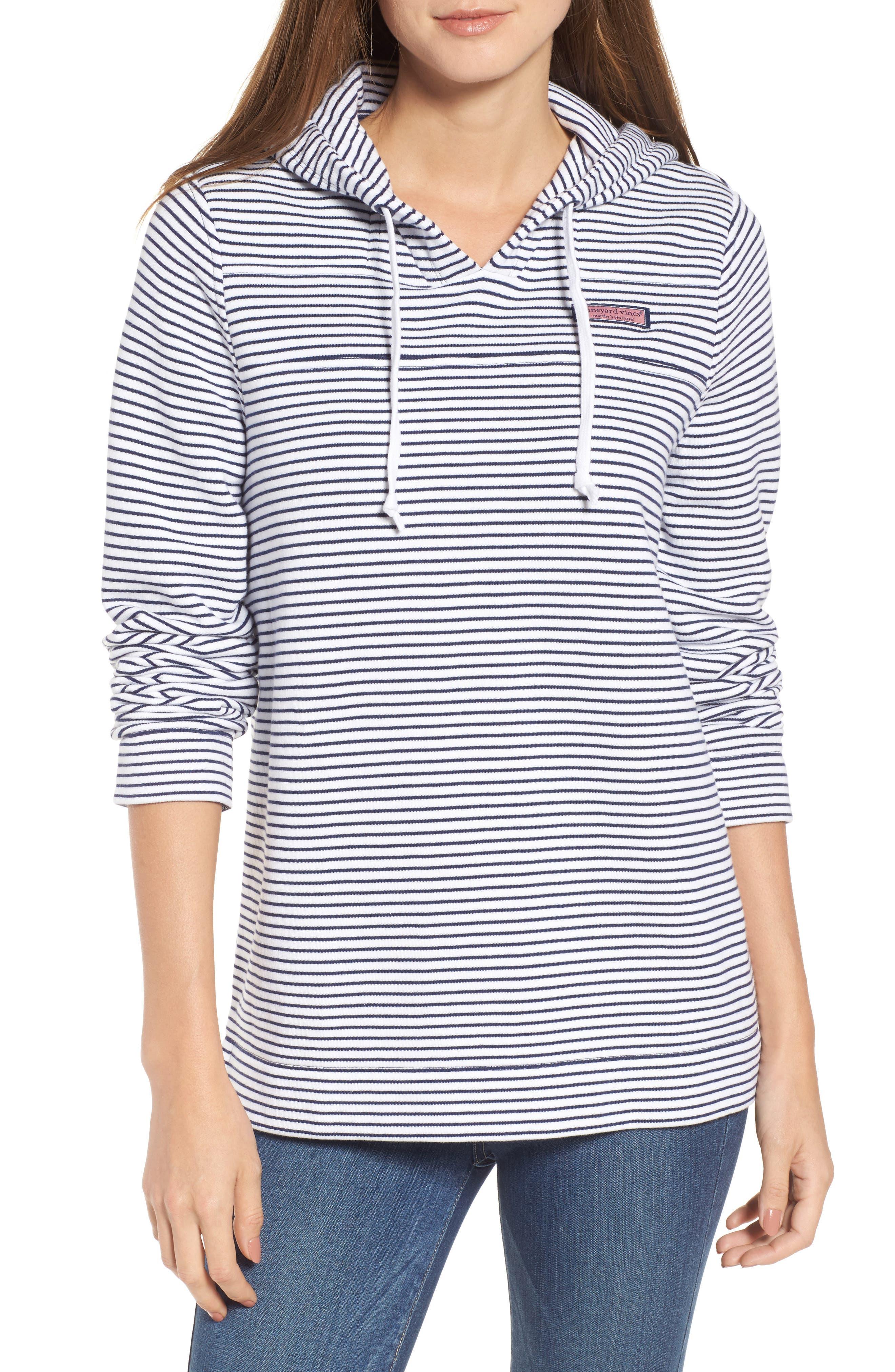Island Stripe Shep Hoodie Shirt,                             Main thumbnail 1, color,                             Deep Bay