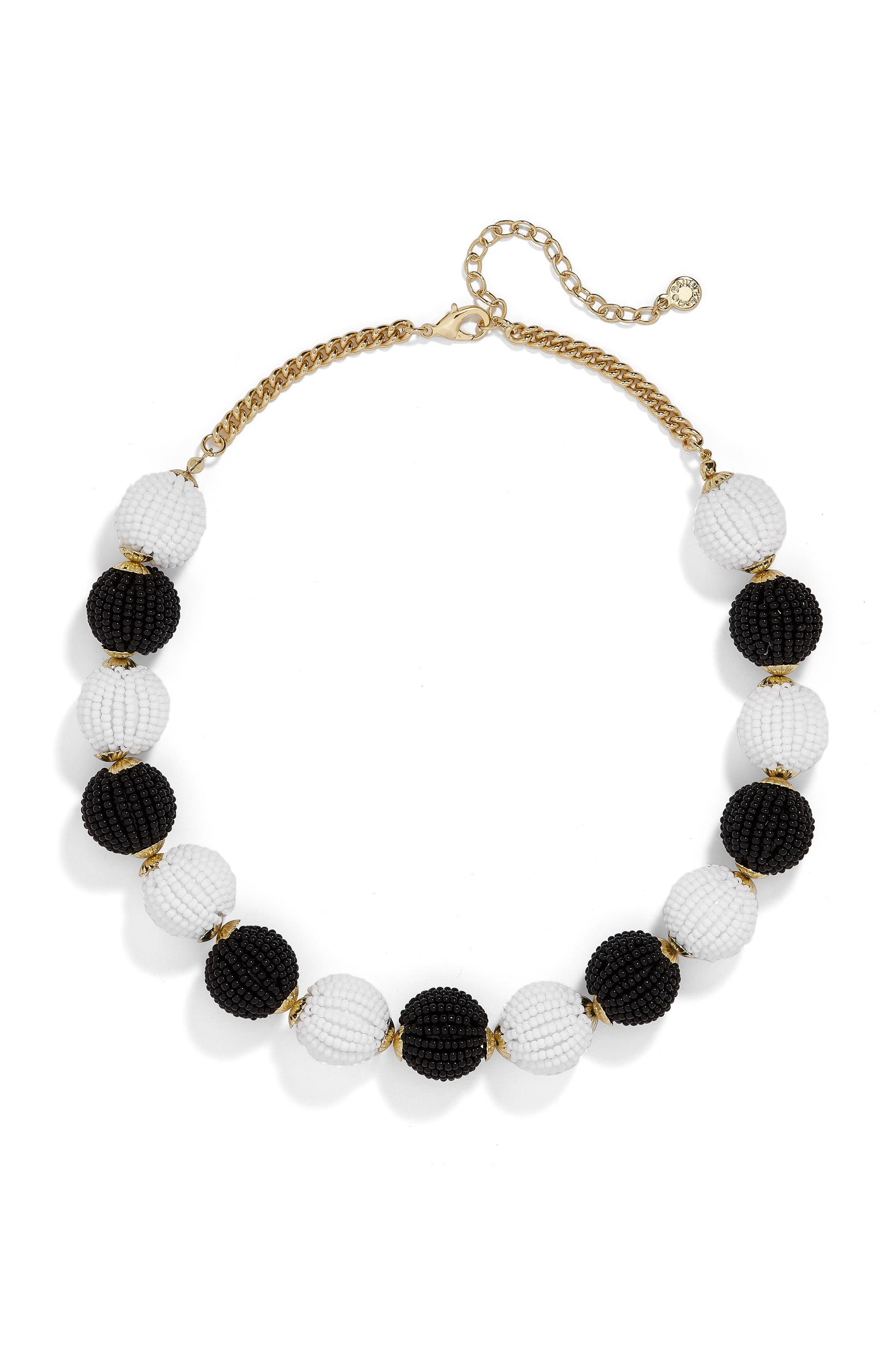 Main Image - BaubleBar Beaded Ball Statement Necklace