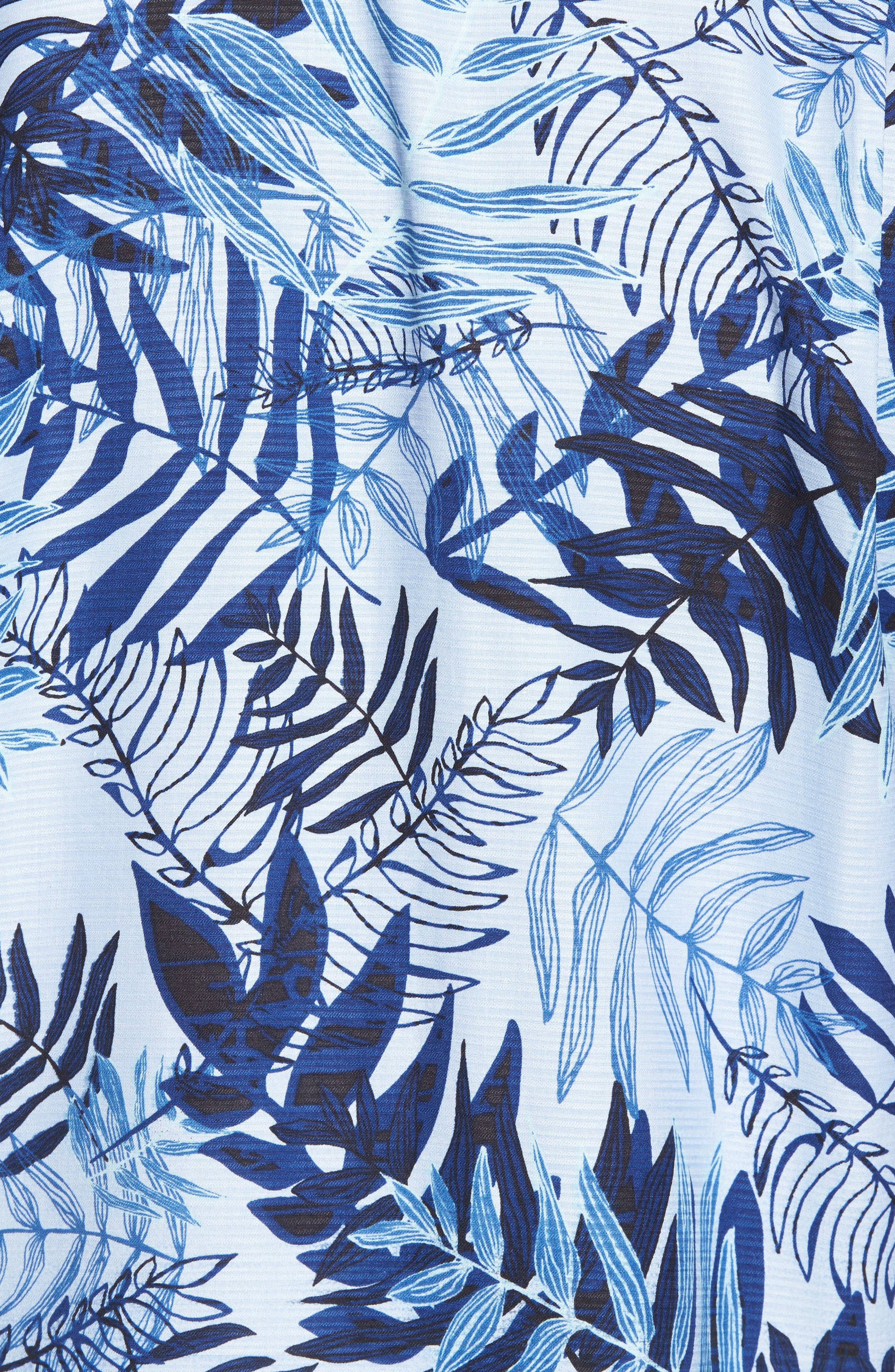 Glade Tropics Regular Fit Silk Sport Shirt,                             Alternate thumbnail 5, color,                             Fresh Air