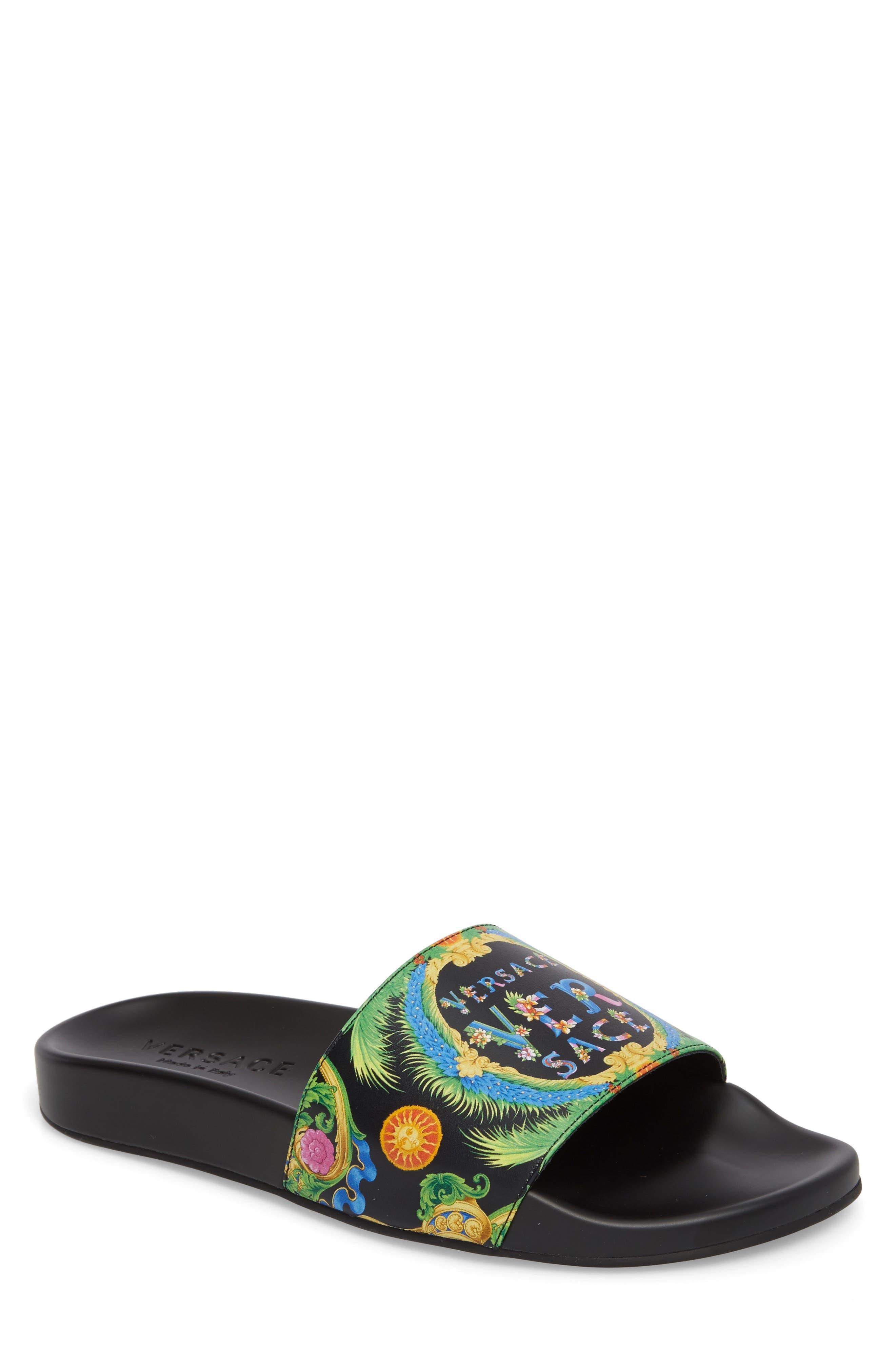 Alternate Image 1 Selected - Versace First Line Miami Slide Sandal (Men)