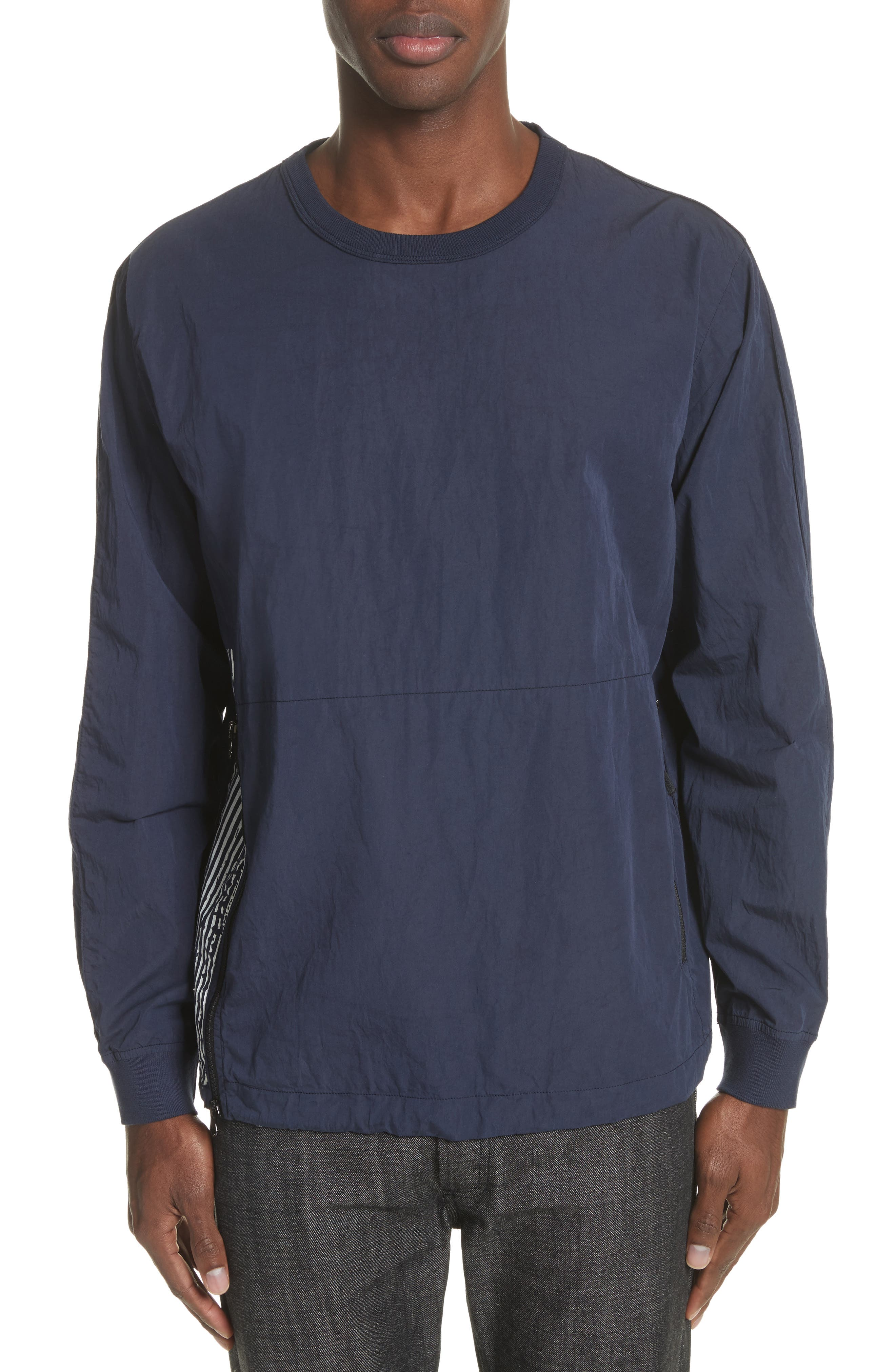 Marina Stripe Sweatshirt,                         Main,                         color, Blue