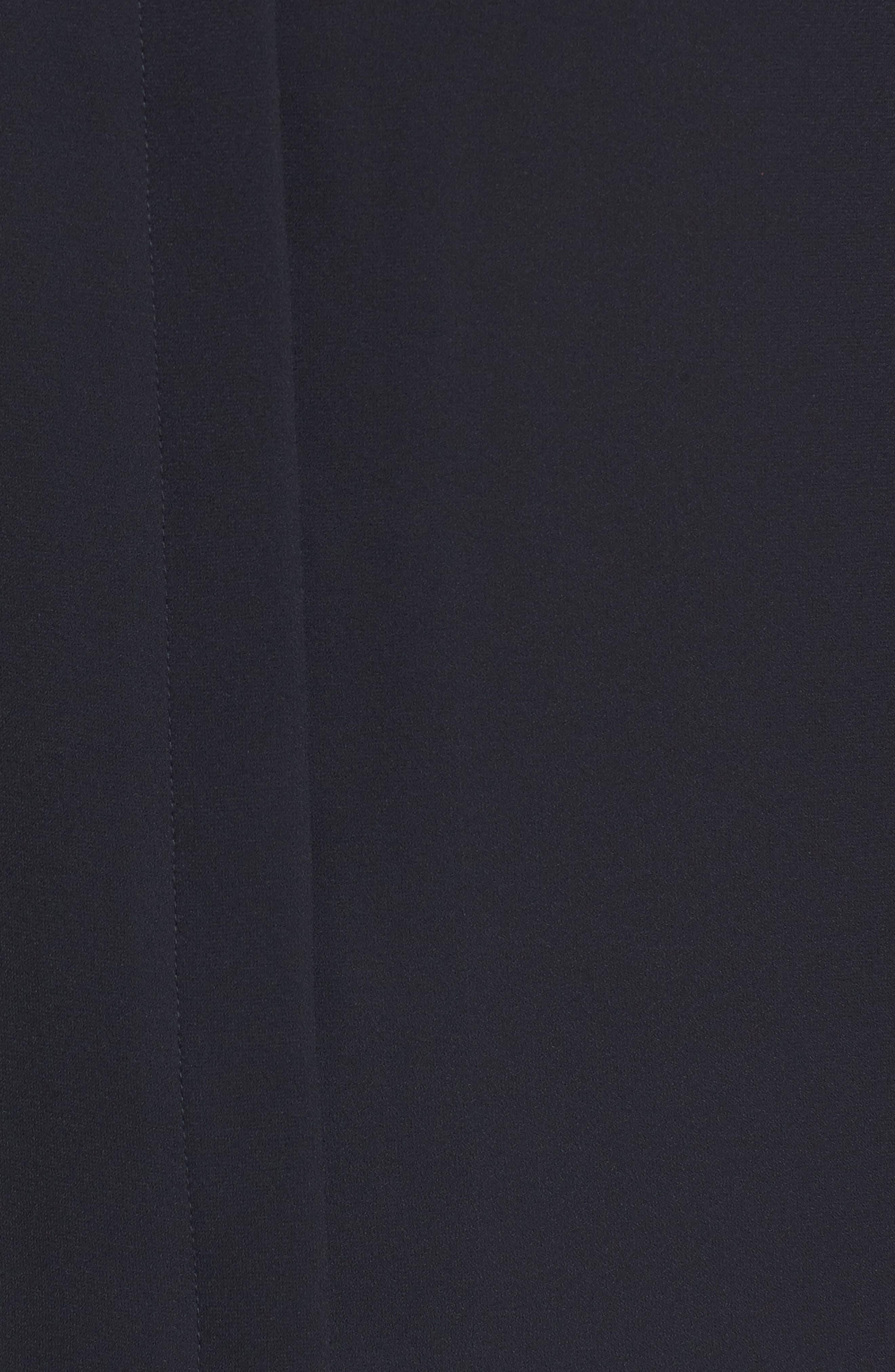 Split Collar Stripe Sleeve Blouse,                             Alternate thumbnail 5, color,                             Black