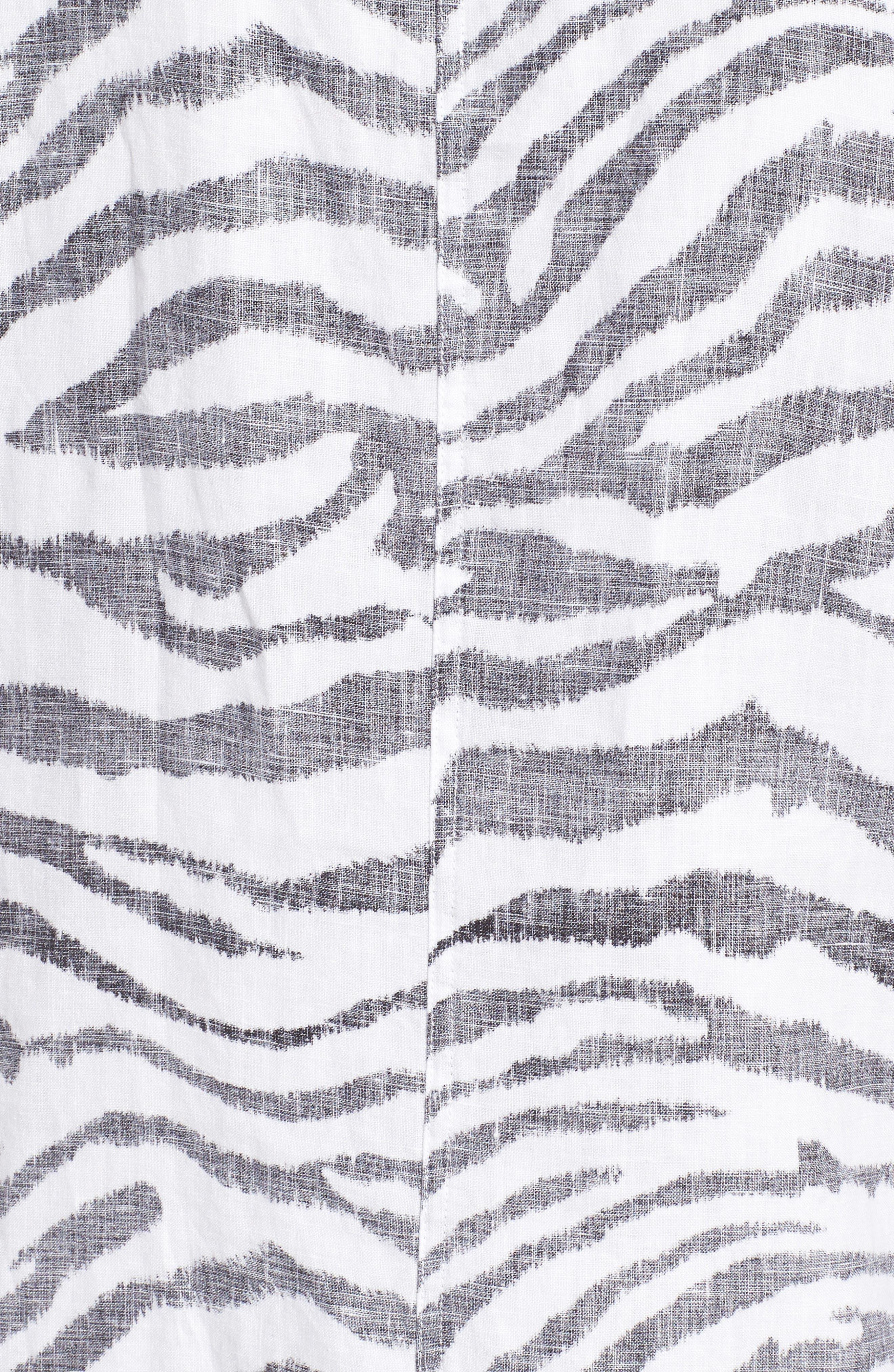 Zebra Taunt Shift Dress,                             Alternate thumbnail 5, color,                             Black