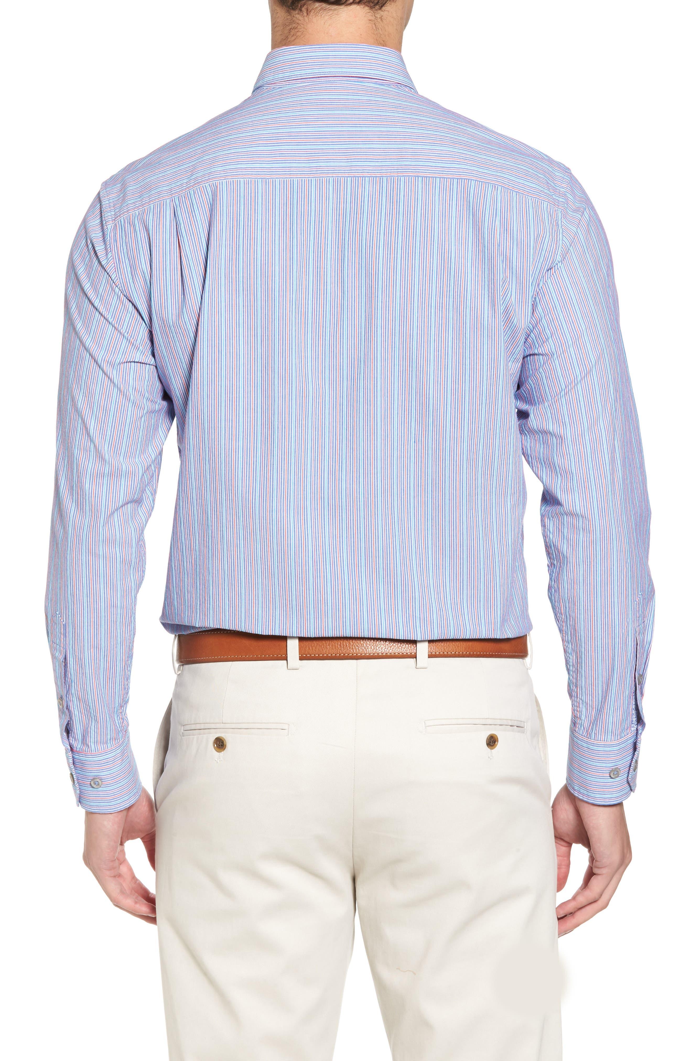Tallahassee Cotton & Silk Blend Sport Shirt,                             Alternate thumbnail 2, color,                             Cobalt Sea