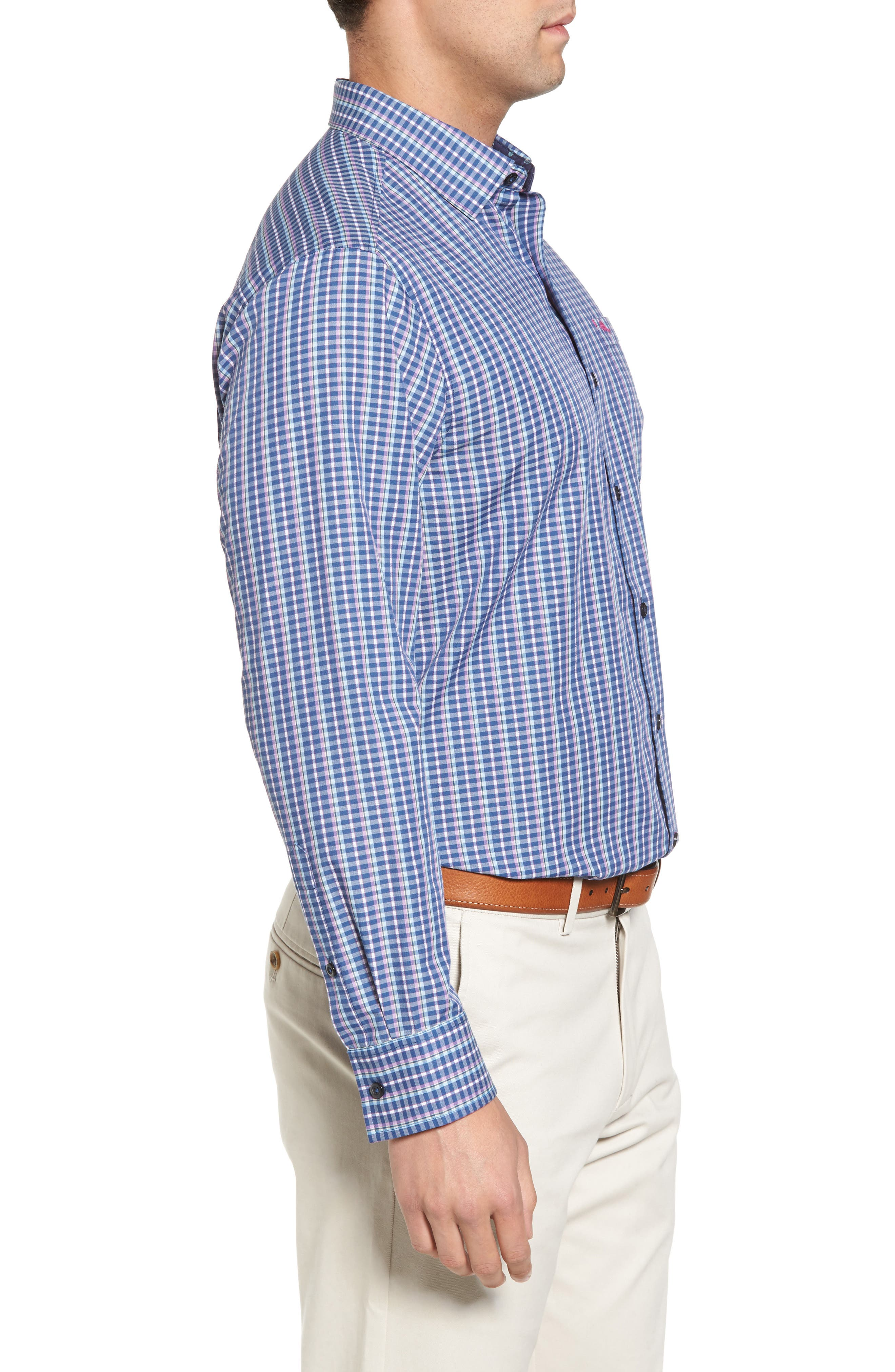 Alternate Image 3  - Tommy Bahama Cypress Cove Classic Fit Plaid Sport Shirt
