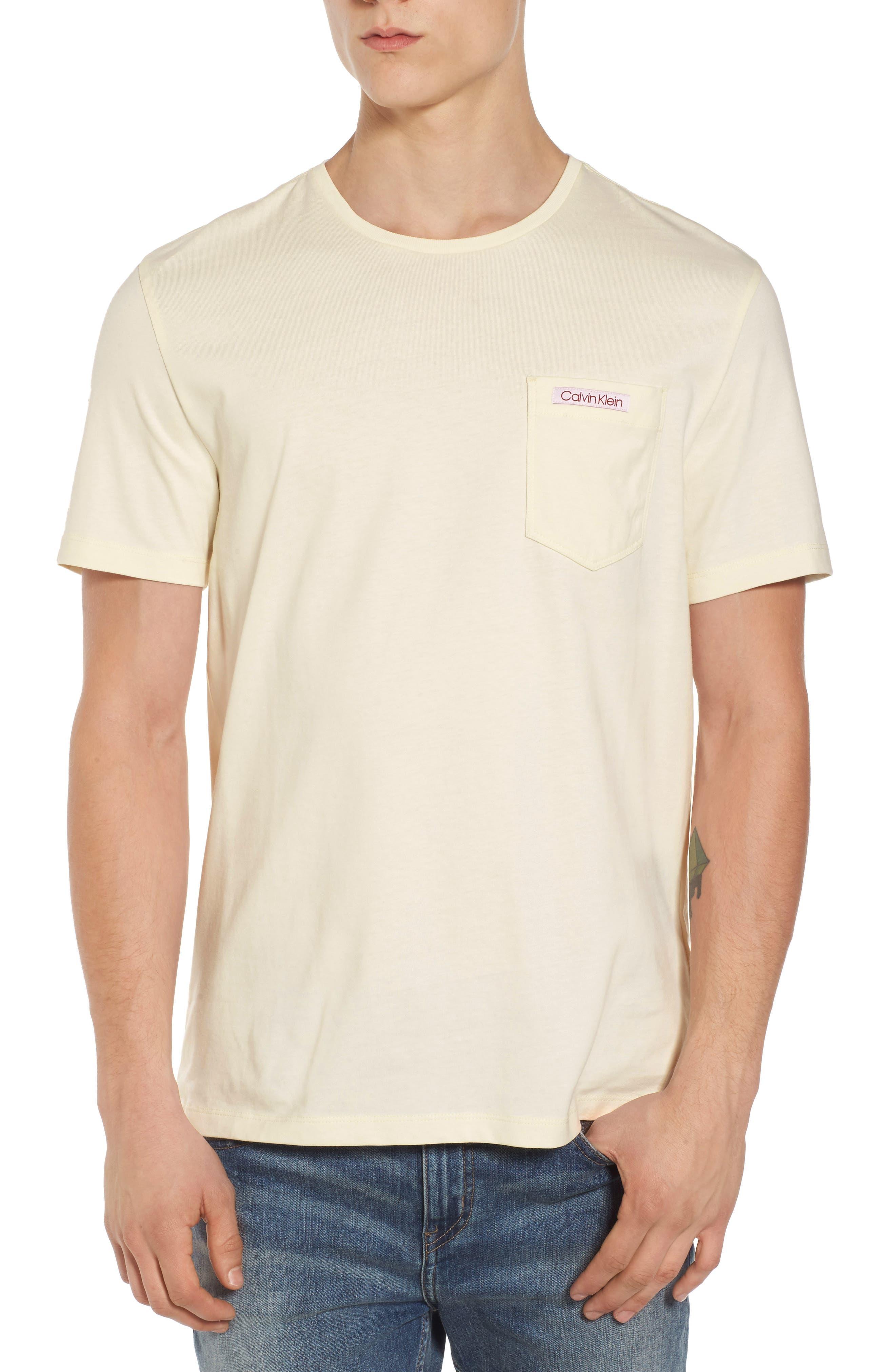 Label Pocket T-Shirt,                         Main,                         color, Papyrus