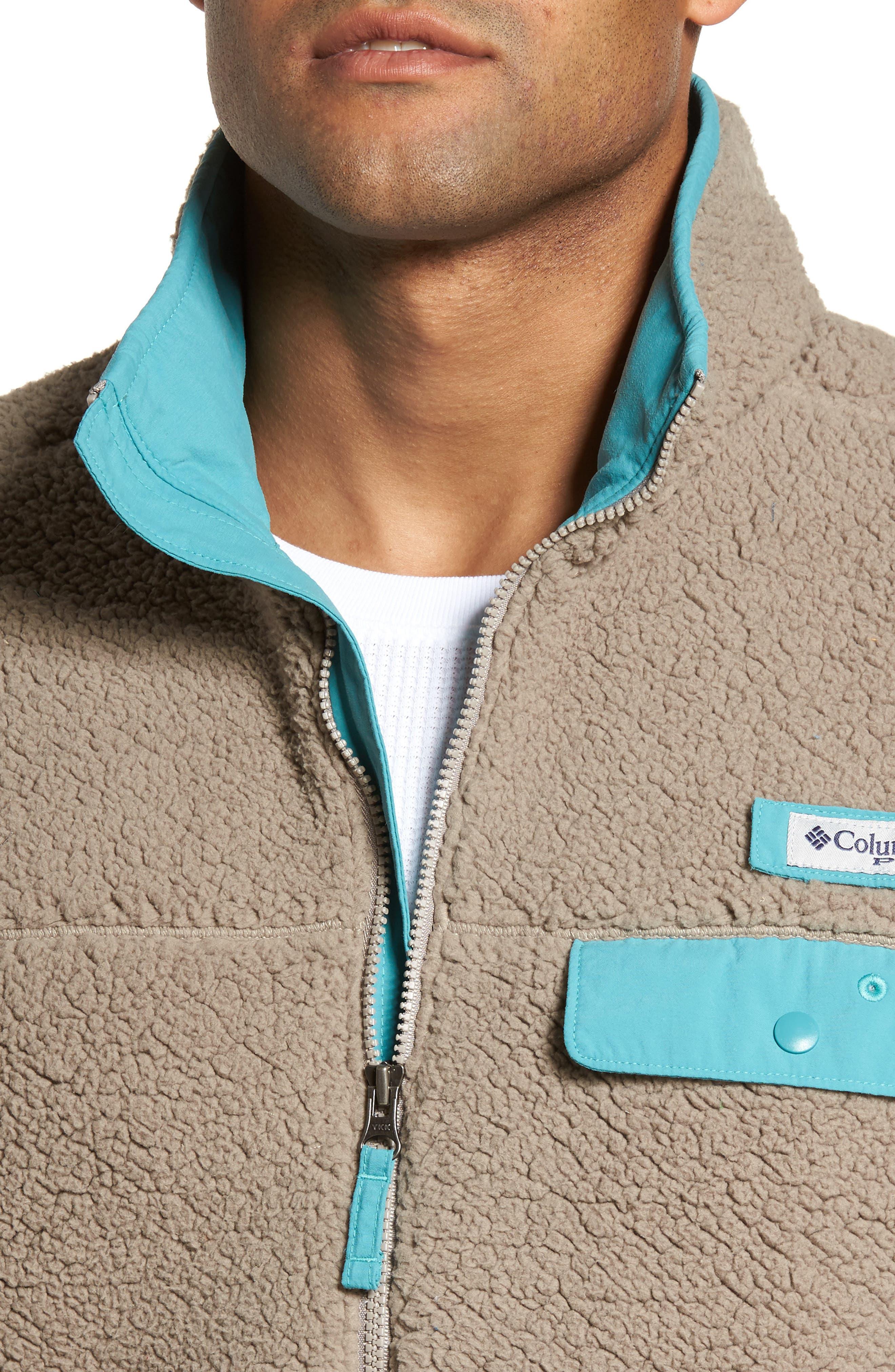 Sportswear Harborside Heavyweight Fleece Vest,                             Alternate thumbnail 4, color,                             Kettle/ Teal