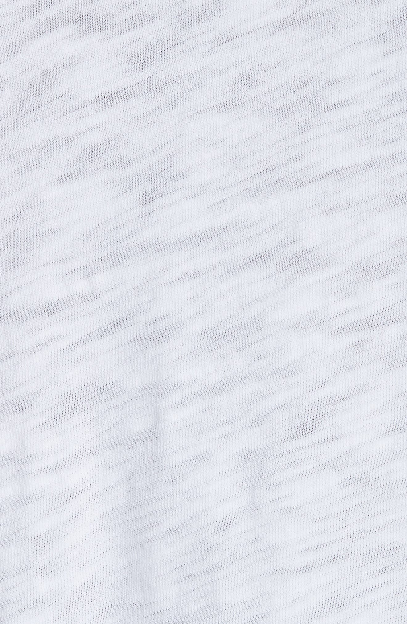 Destroyed Long Sleeve T-Shirt,                             Alternate thumbnail 5, color,                             White