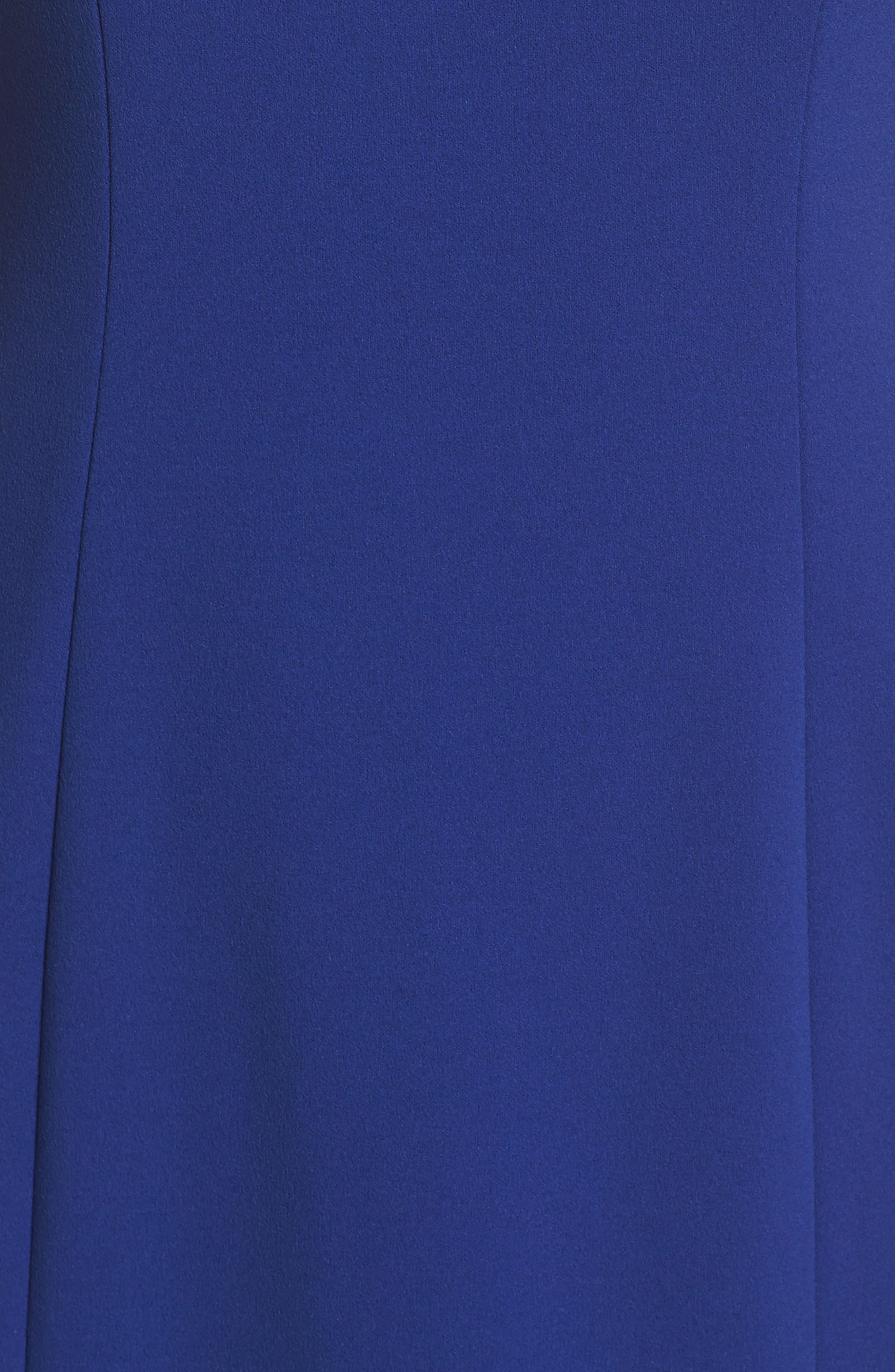 Cutout Shoulder Scuba Gown,                             Alternate thumbnail 5, color,                             Cob