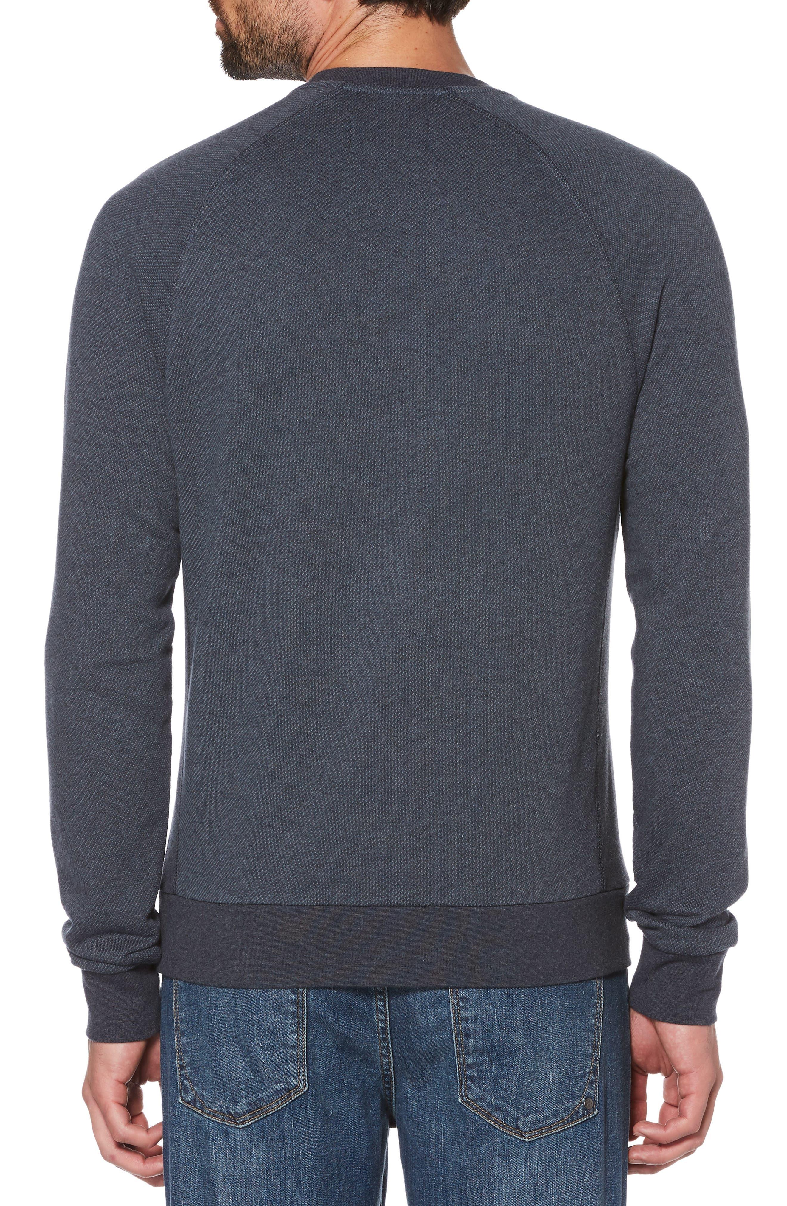 Bouclé Sweatshirt,                             Alternate thumbnail 2, color,                             Dark Sapphire