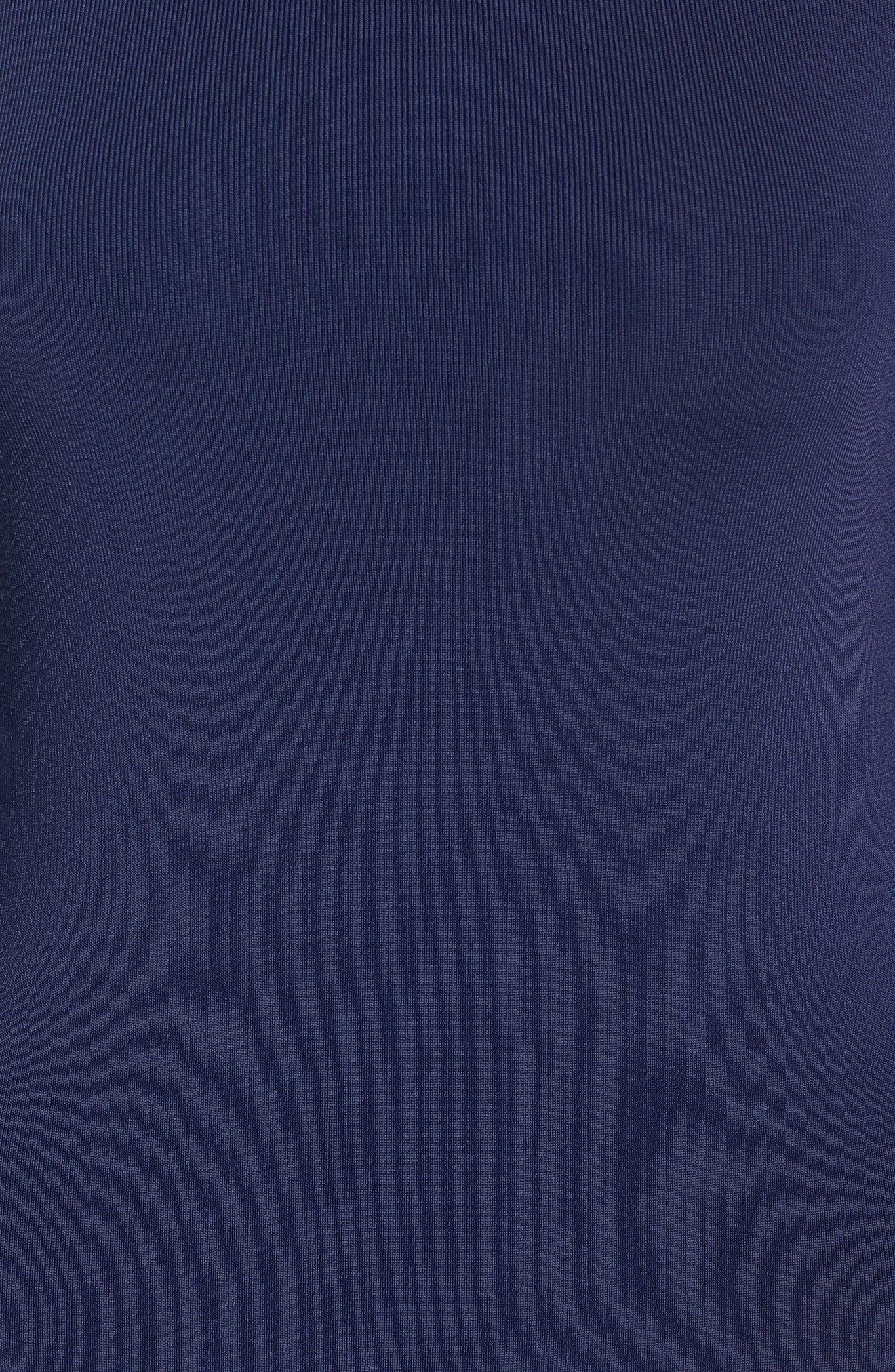 Bateau Neck Sweater Dress,                             Alternate thumbnail 5, color,                             Navy Peacoat
