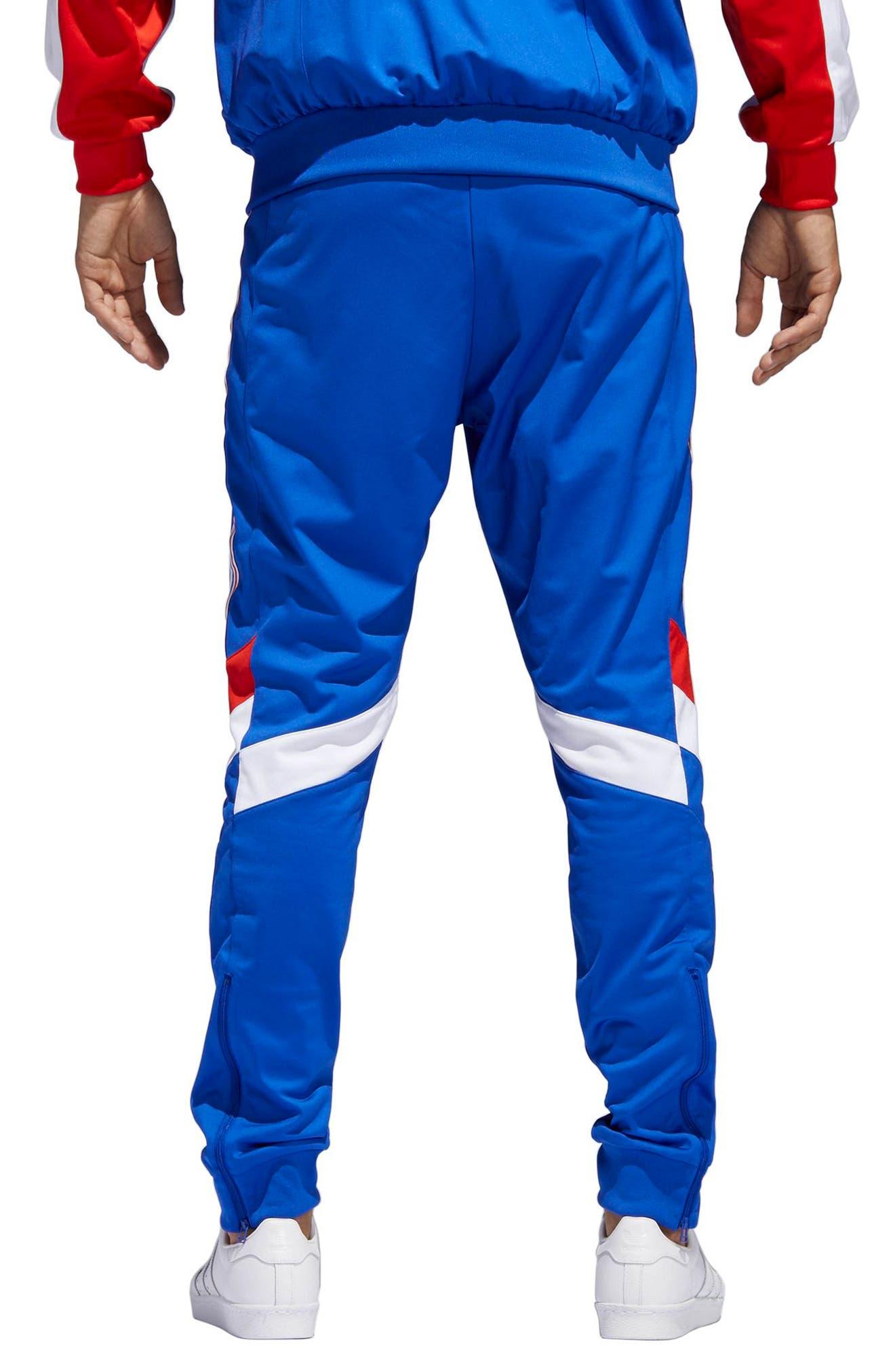 Aloxe Slim Track Pants,                             Alternate thumbnail 2, color,                             Bold Blue/ White