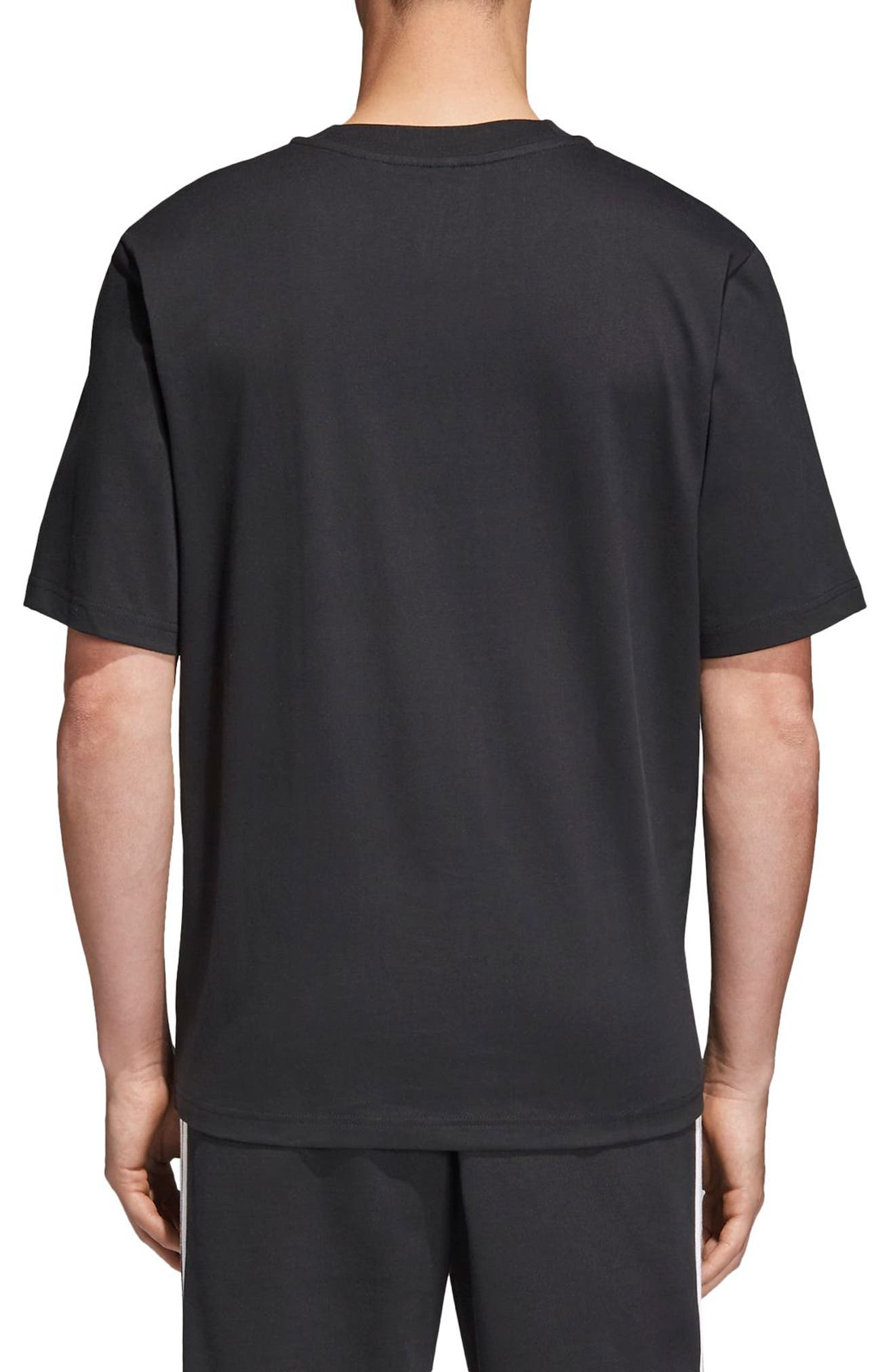 Oversize Logo T-Shirt,                             Alternate thumbnail 2, color,                             Black