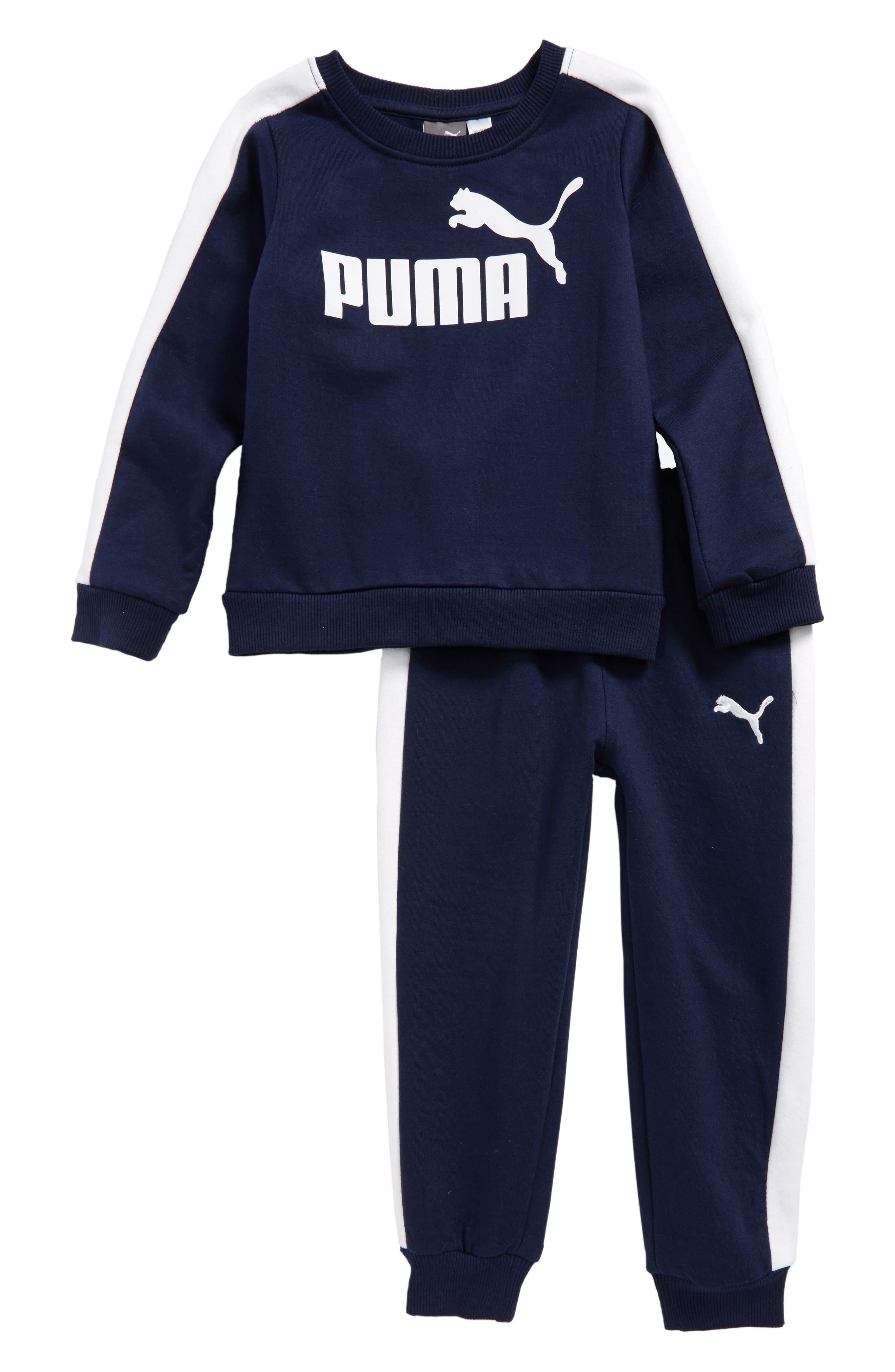 Sweatshirt & Sweatpants Set,                             Main thumbnail 1, color,                             Deep Navy