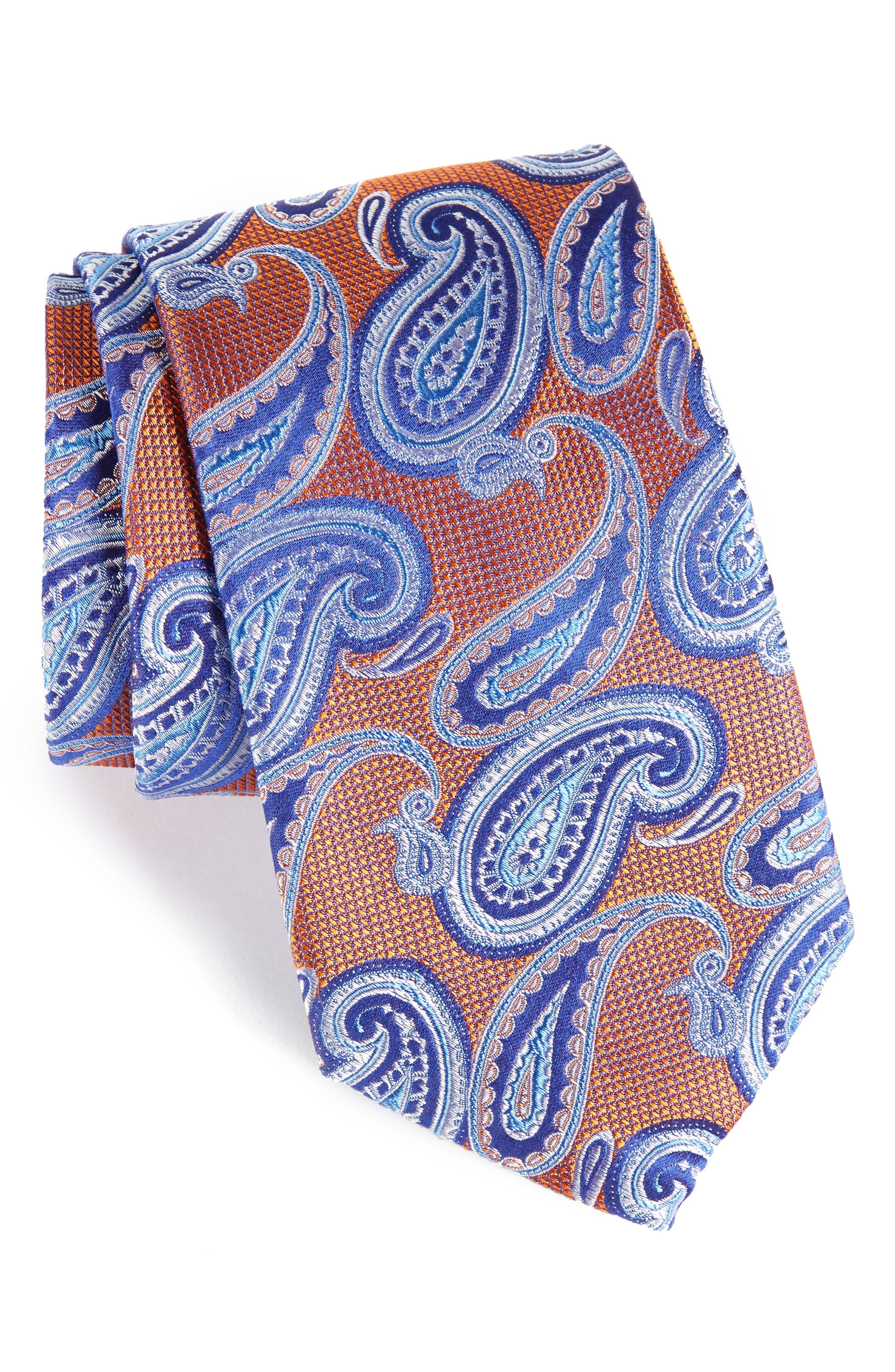 Main Image - Nordstrom Men's Shop Brett Paisley Silk Tie