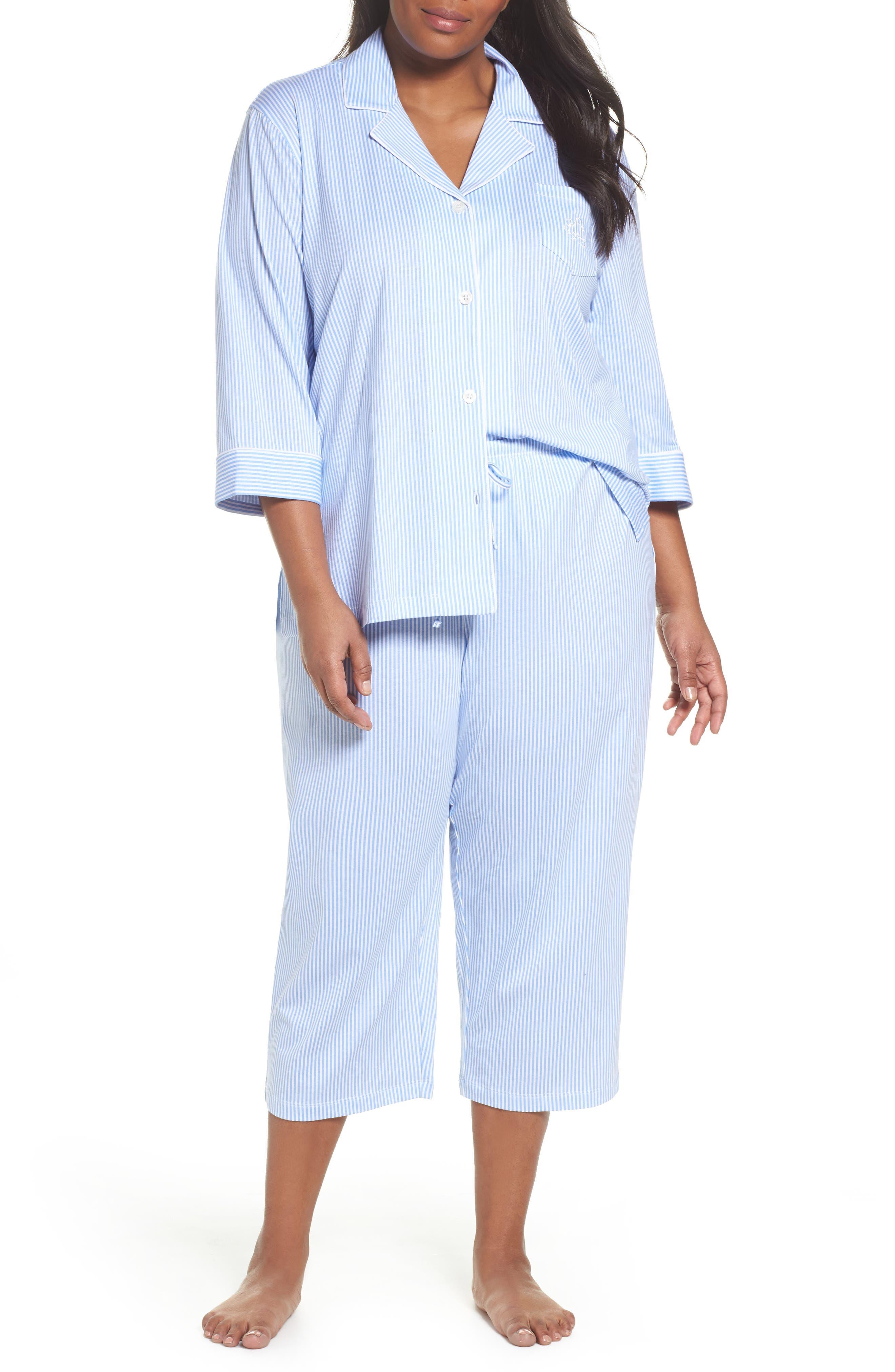 Alternate Image 1 Selected - Lauren Ralph Lauren Bermuda Pajamas (Plus Size)