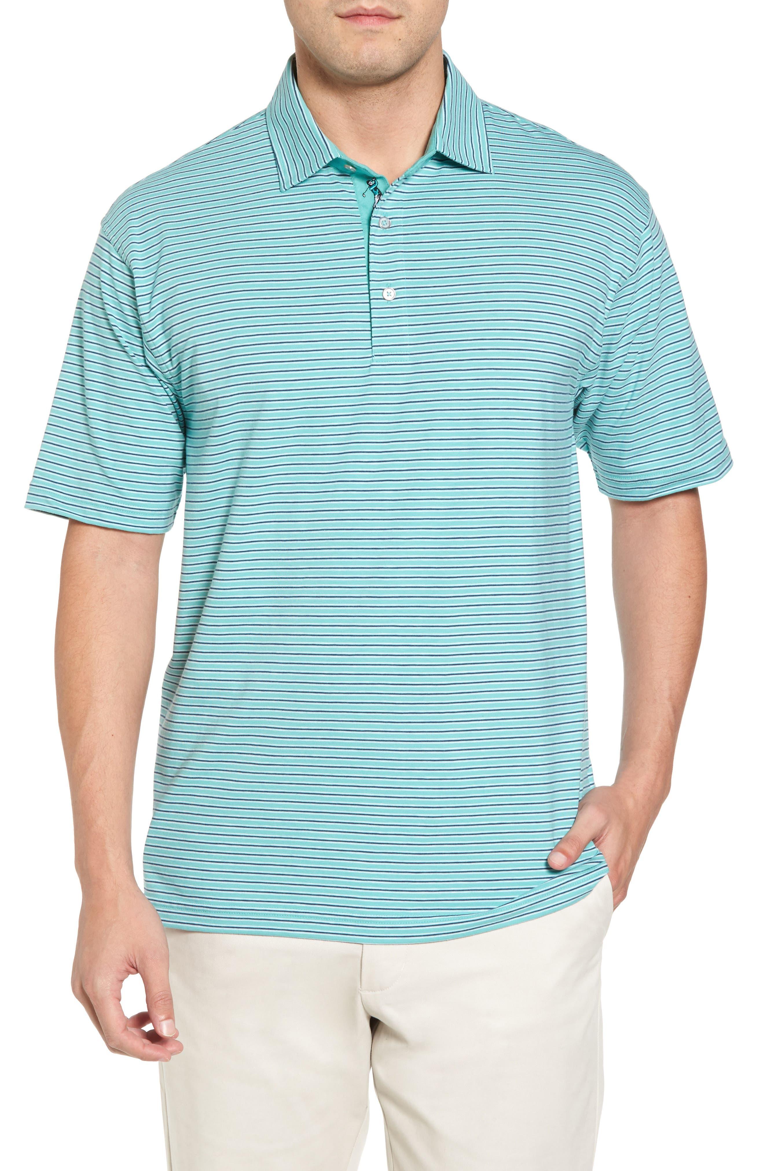 Crest Stripe Polo,                         Main,                         color, Wintergreen