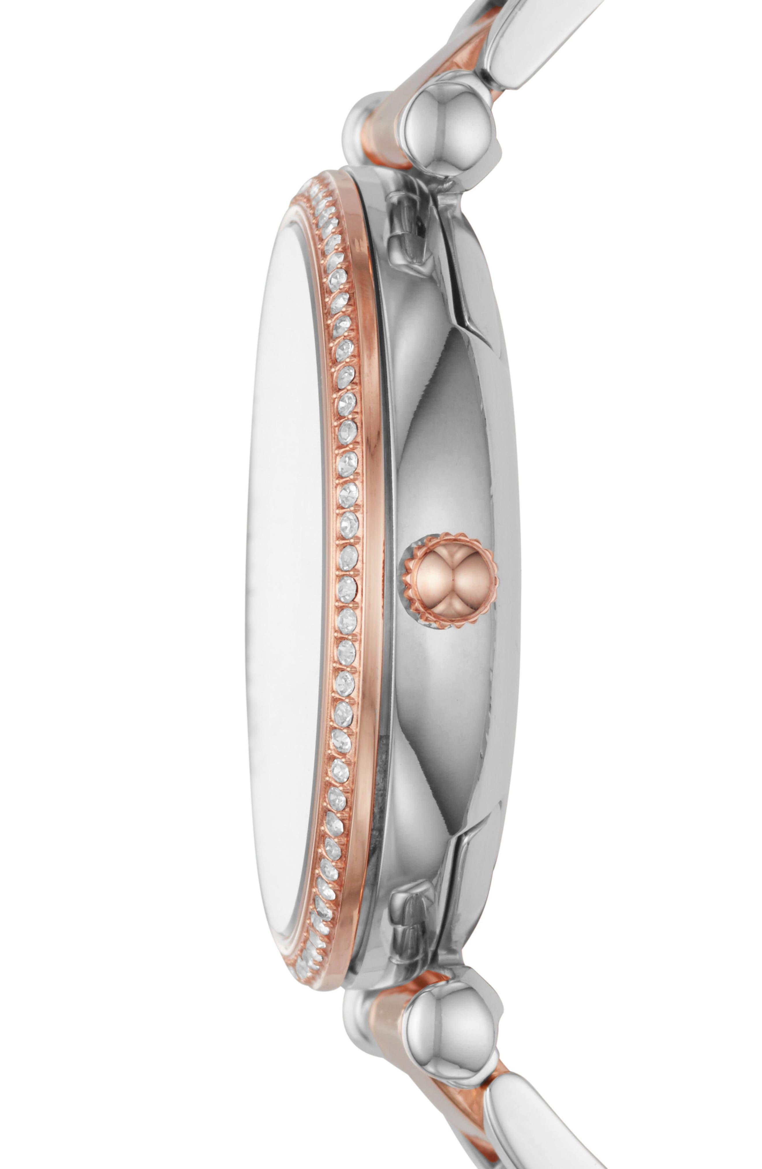 Alternate Image 2  - Fossil Carlie T-Bar Crystal Bracelet Watch, 35mm