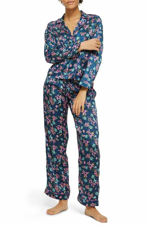 Topshop Bird Satin Pajamas
