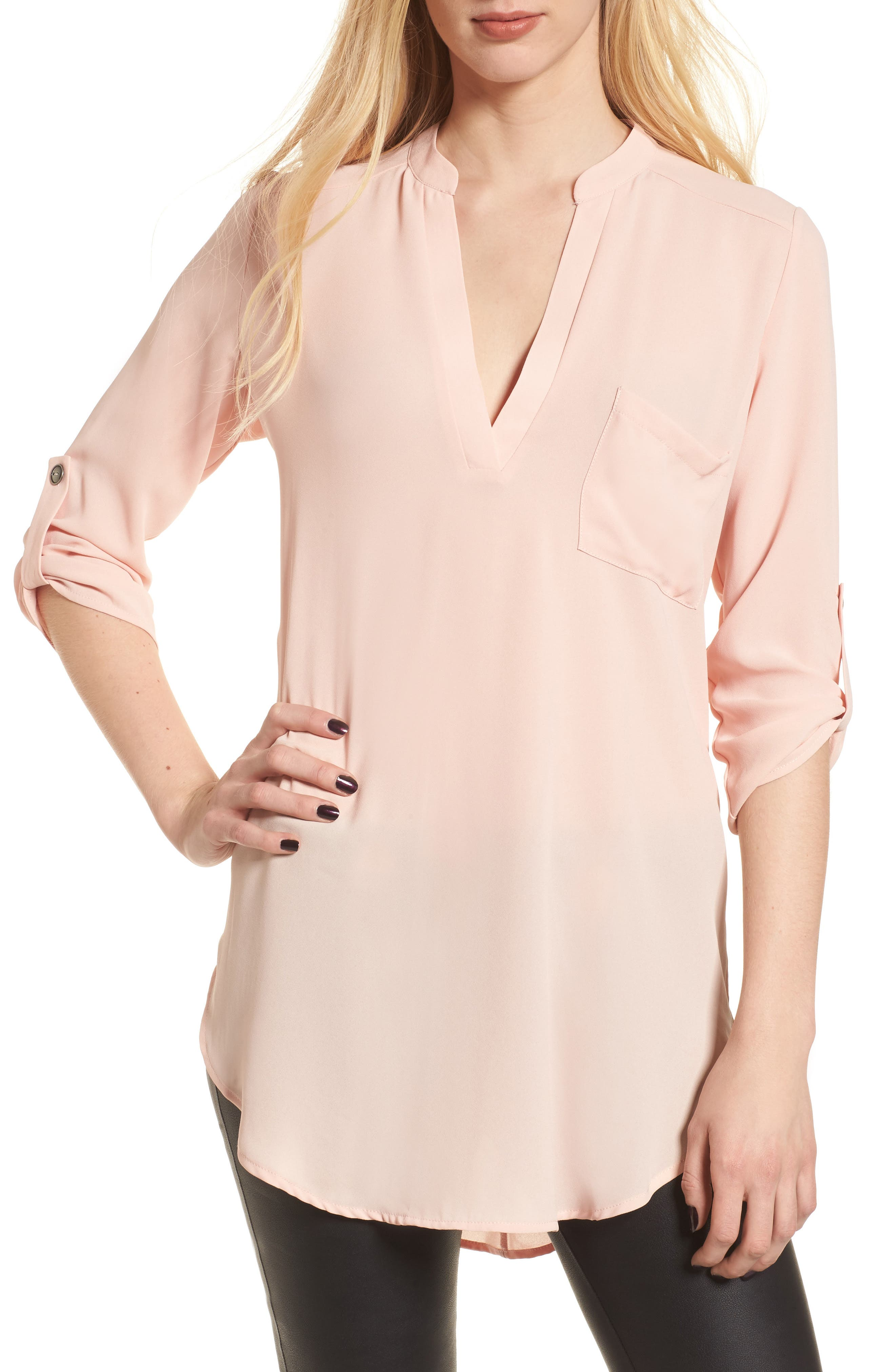 Main Image - Perfect Roll Tab Sleeve Tunic