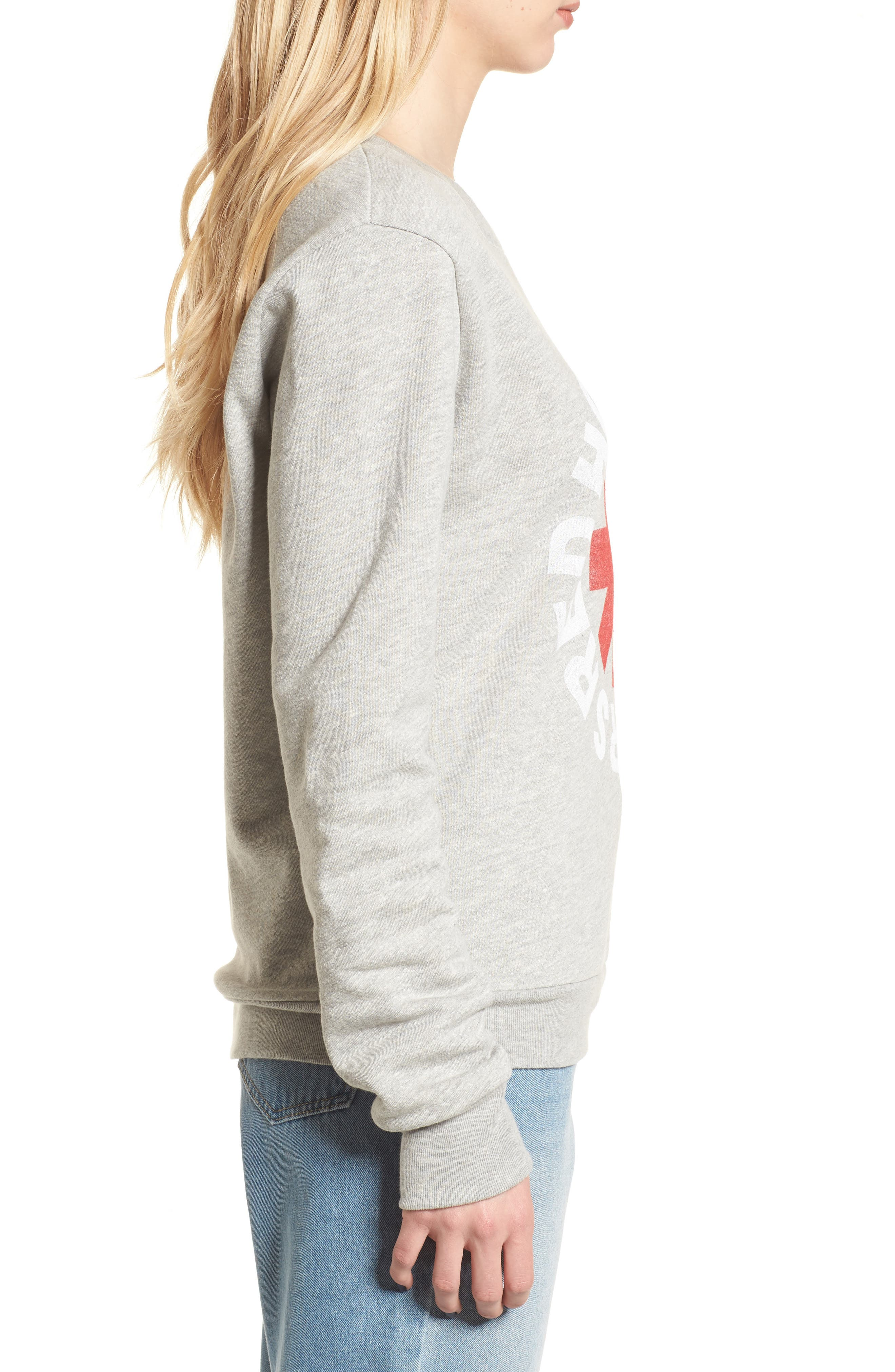 Red Hot Chili Peppers Sweatshirt,                             Alternate thumbnail 3, color,                             Heather Grey