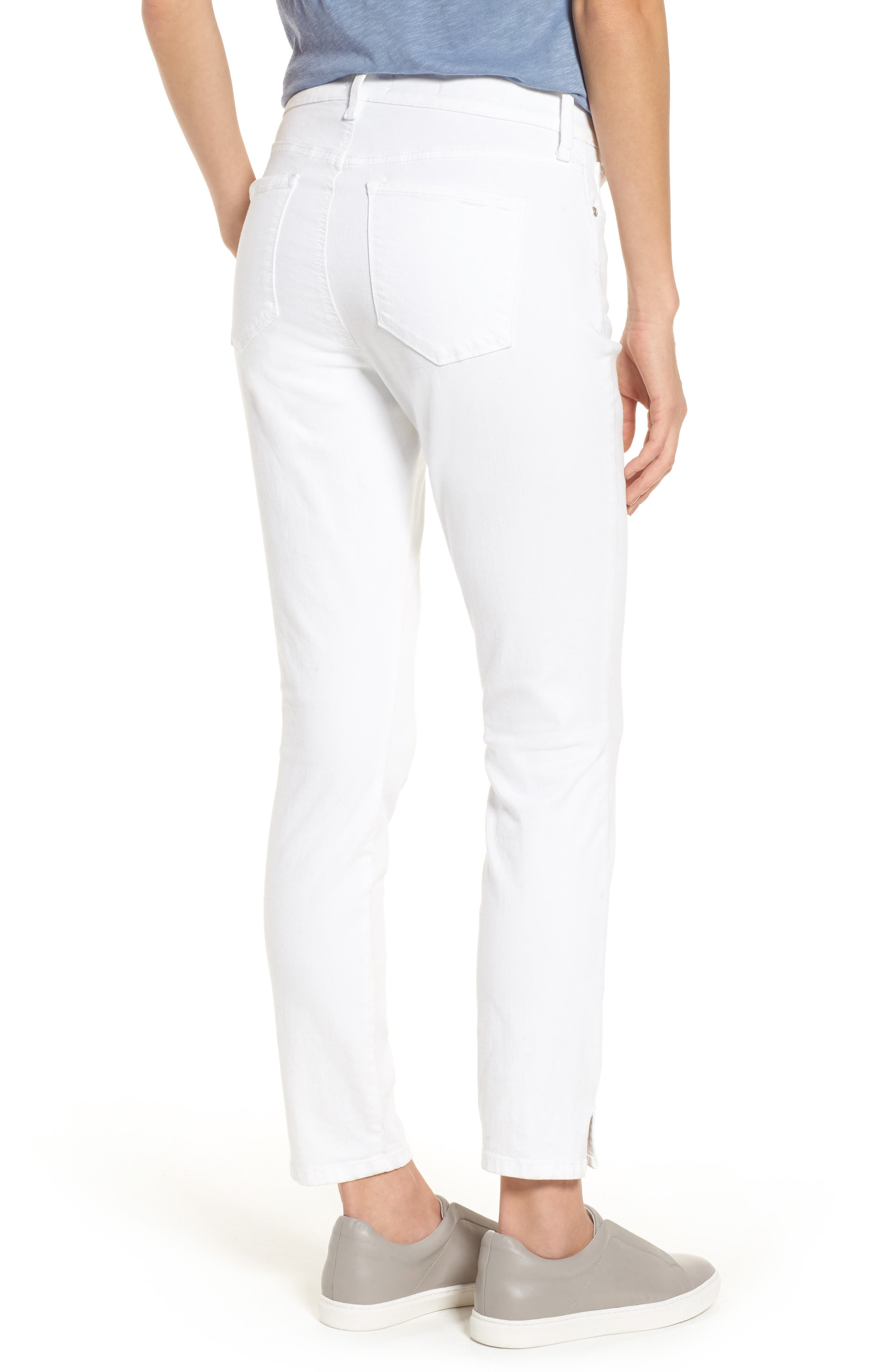 Ami Stretch Ankle Skinny Jeans,                             Alternate thumbnail 2, color,                             Optic White