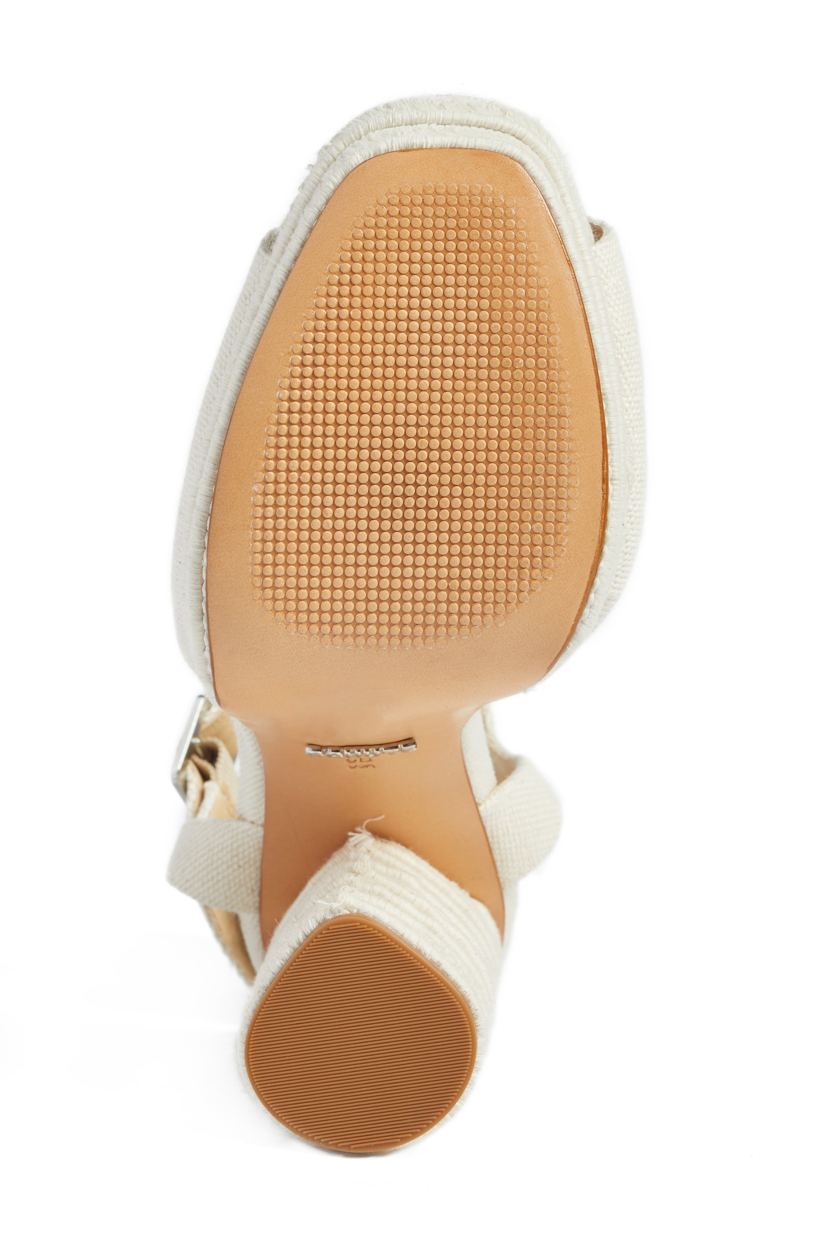 Jane Platform Sandal,                             Alternate thumbnail 6, color,                             Cru