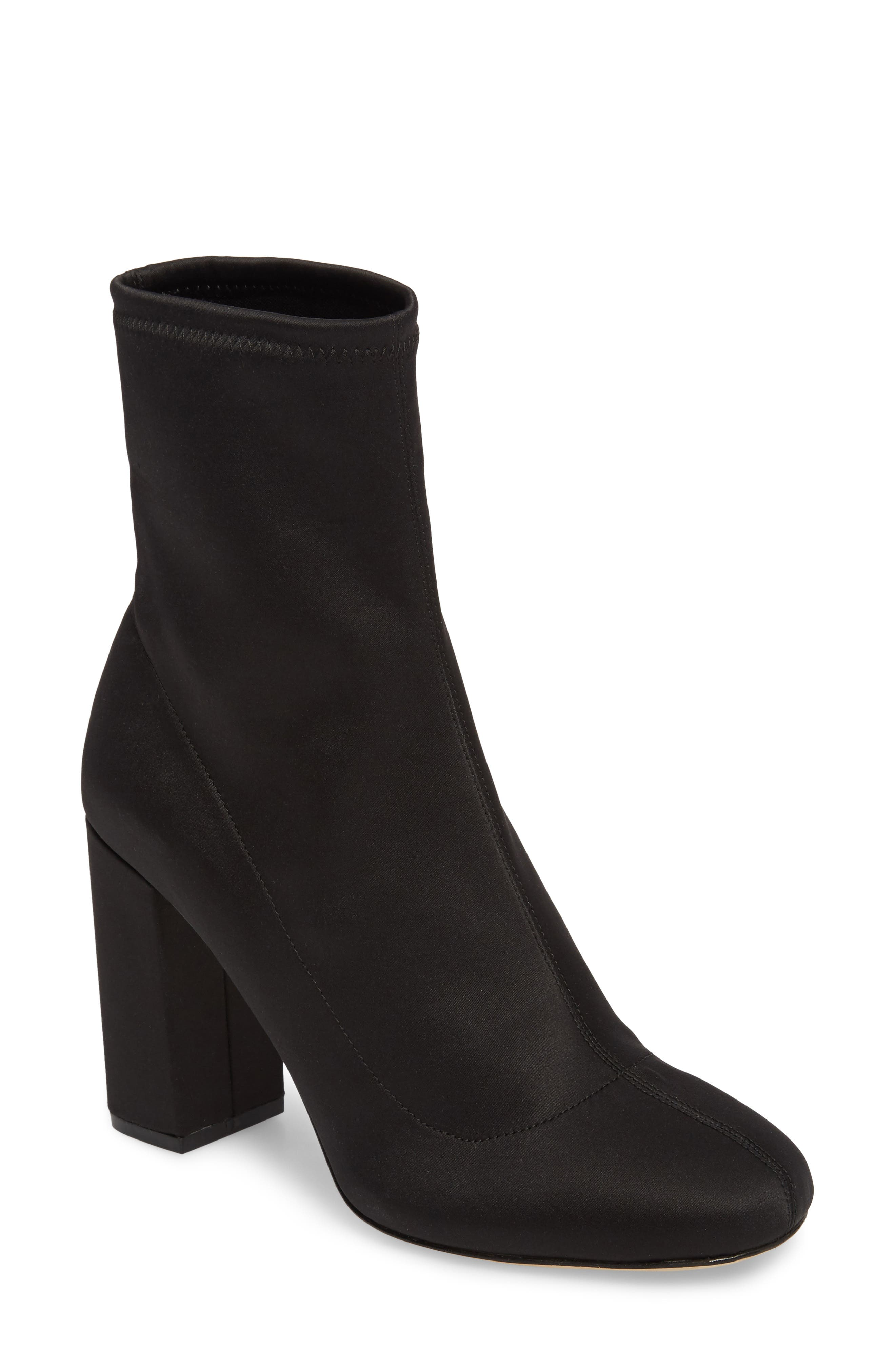 Alternate Image 1 Selected - Joie Sabriyya Sock Satin Bootie (Women)