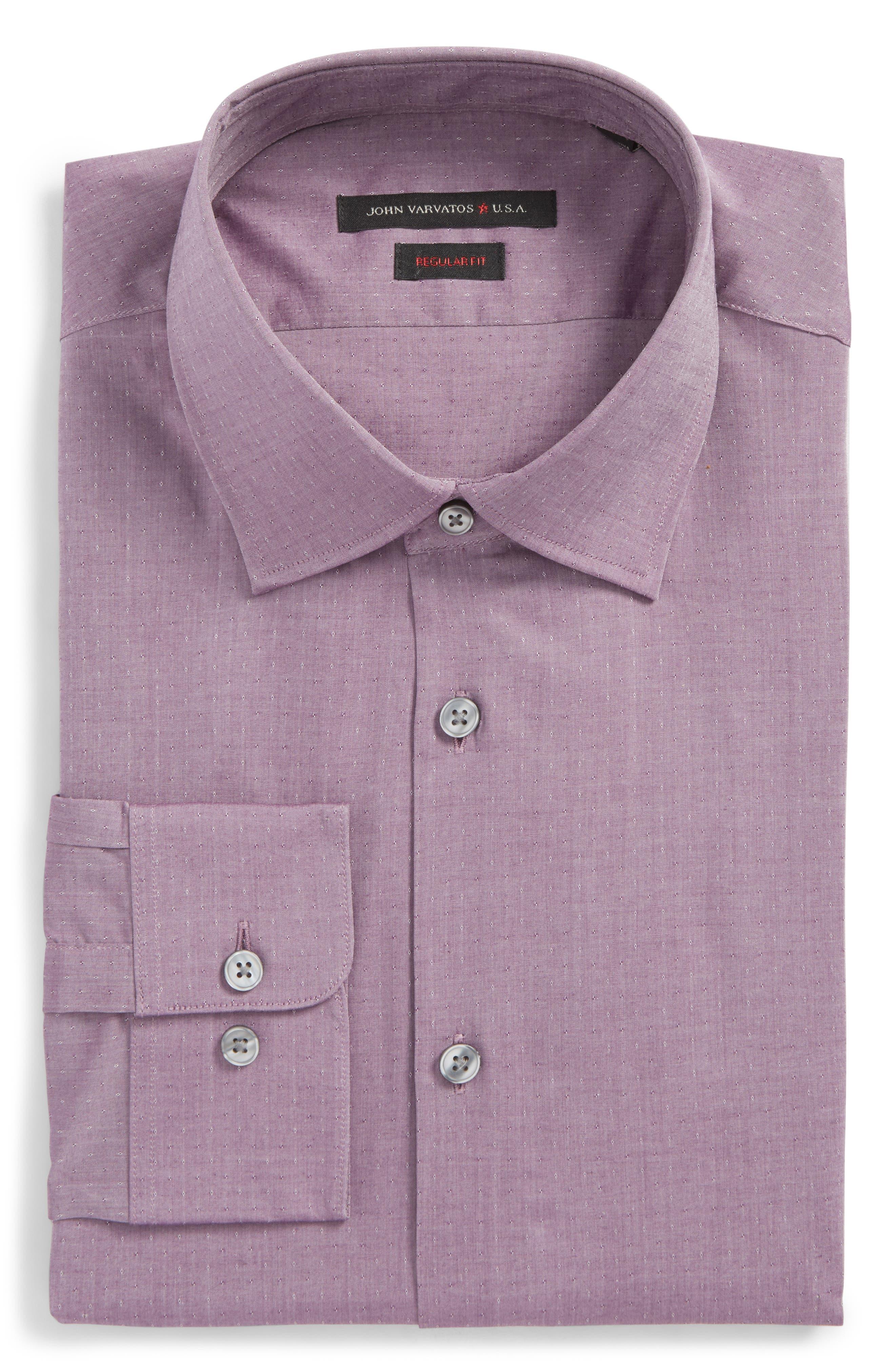 John Varvatos Star USA Regular Fit Stretch Dobby Dress Shirt